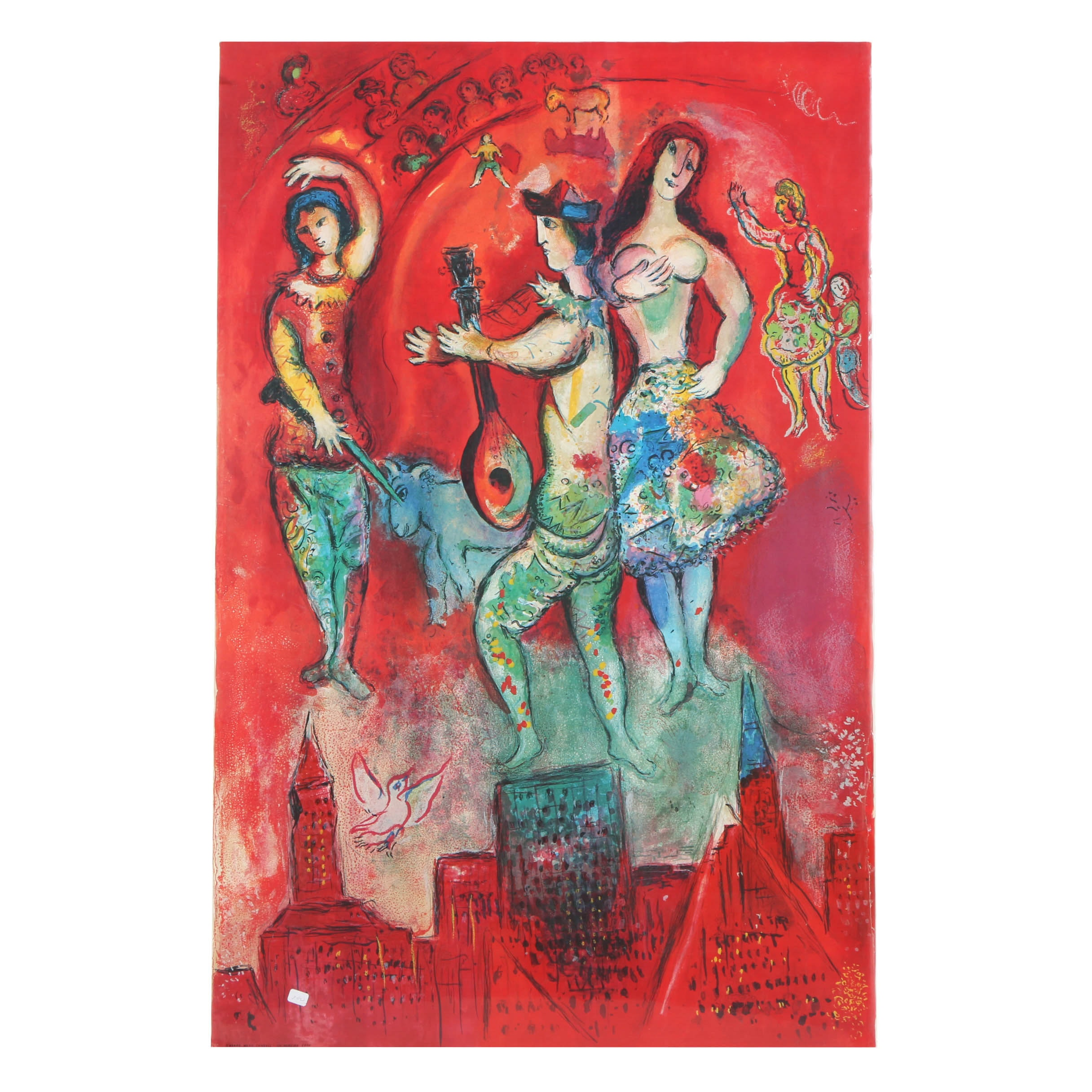 """Offset Lithograph After Marc Chagall's """"Carmen"""""""