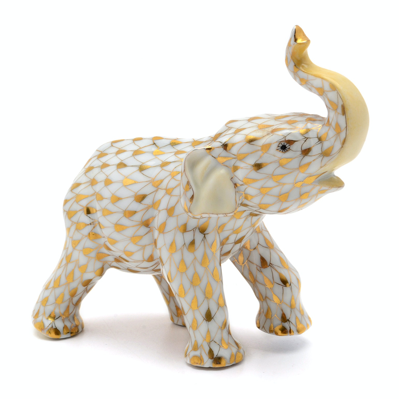 "Herend ""Charging Elephant"" Porcelain Figurine"