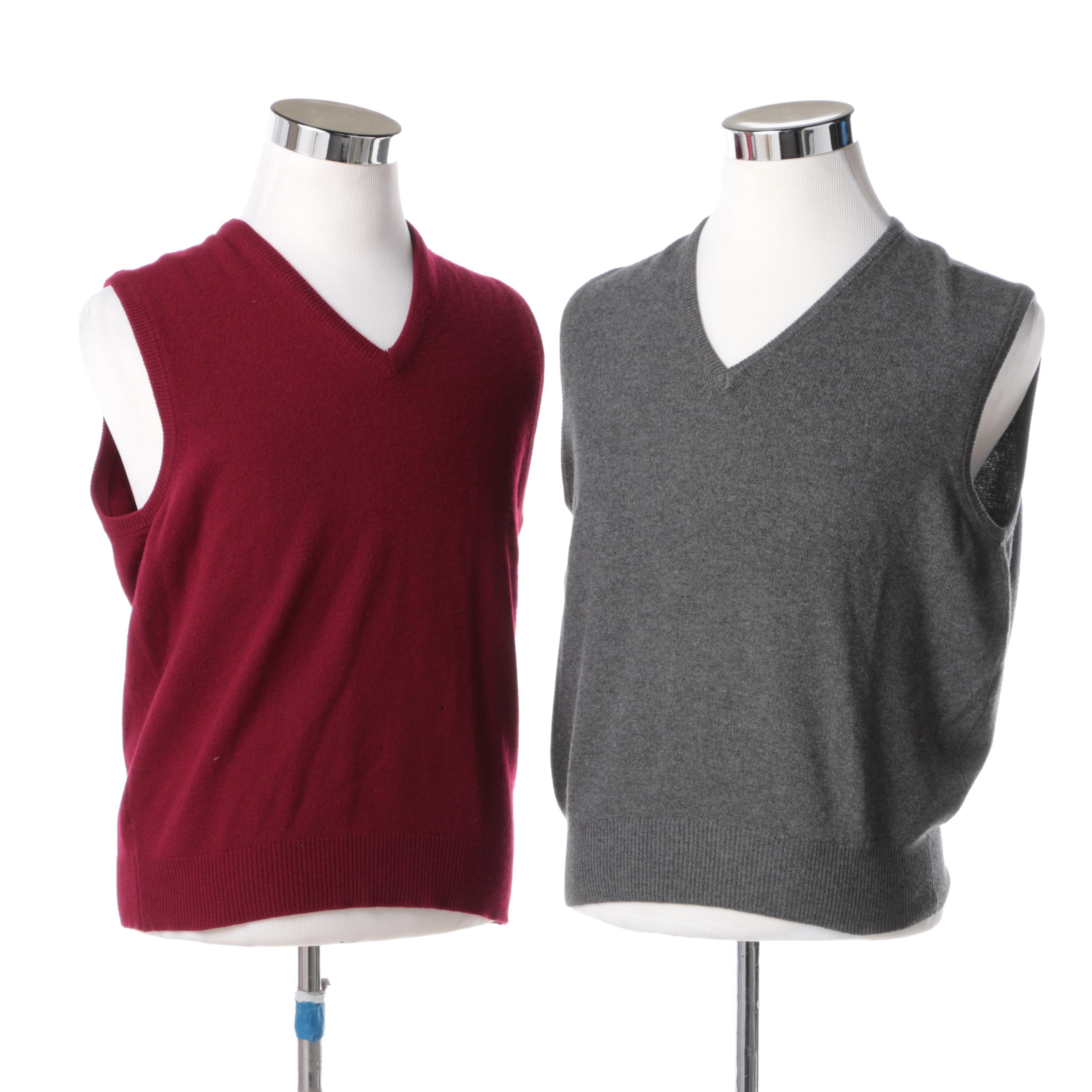 Mens Cashmere Sweater Vests Including Brooks Brothers Ebth