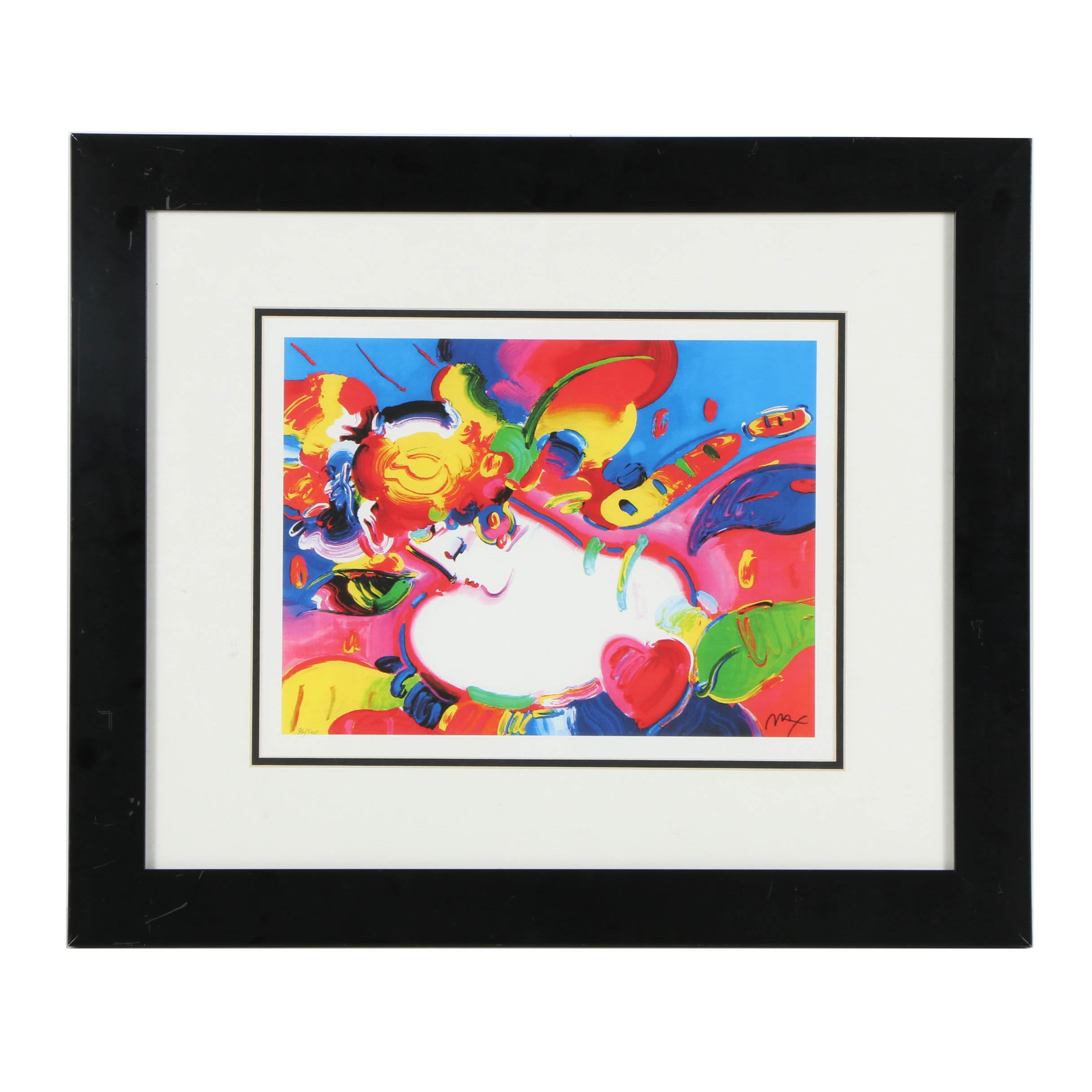 """Reproduction Lithograph after Peter Max """"Flower Blossom Lady"""""""