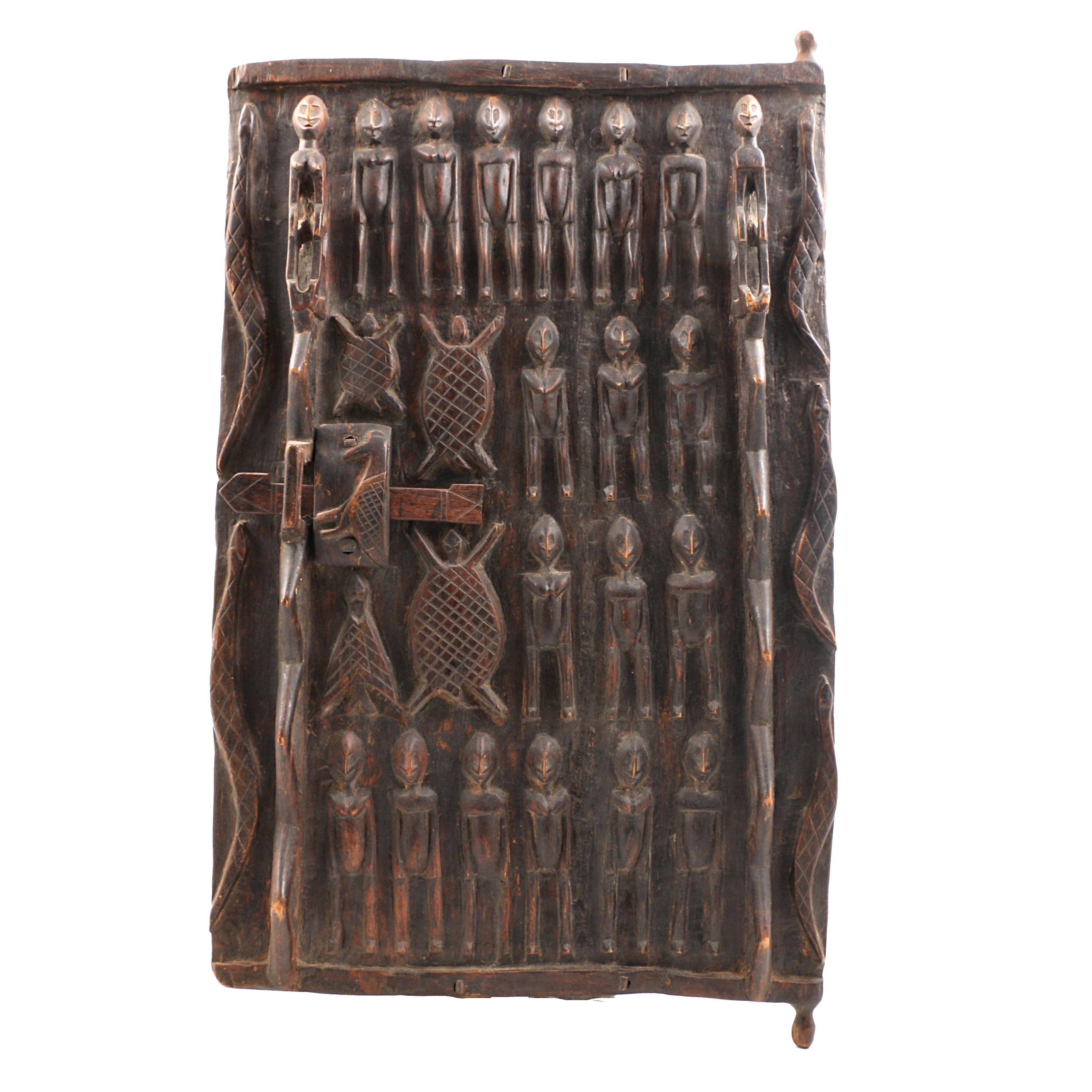 African Dogon Carved Granary Door