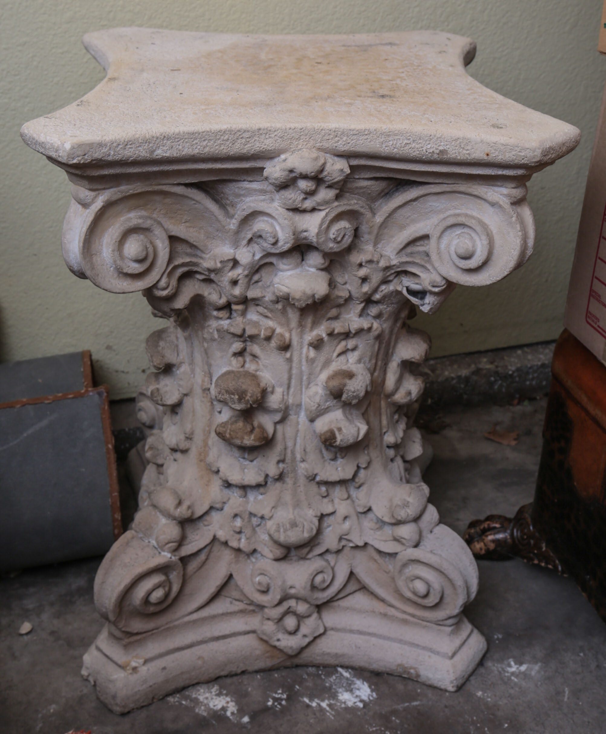 Ornate Garden Pedestal