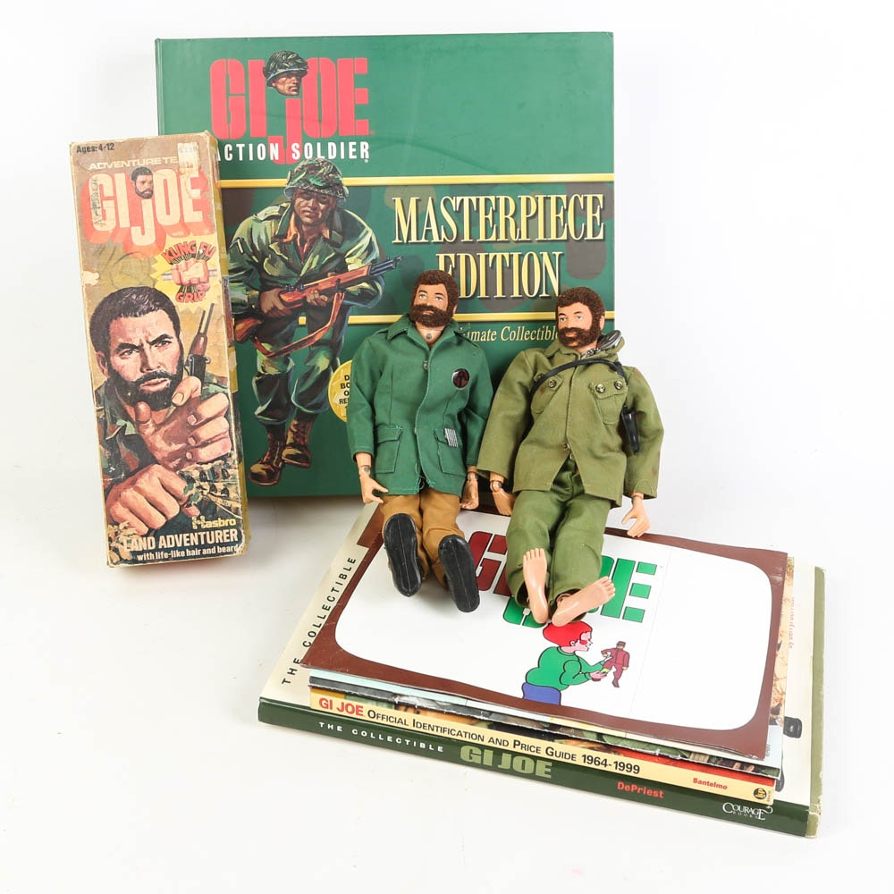 G. I. Joe Collection Featuring Action Figures, Collector Books, More