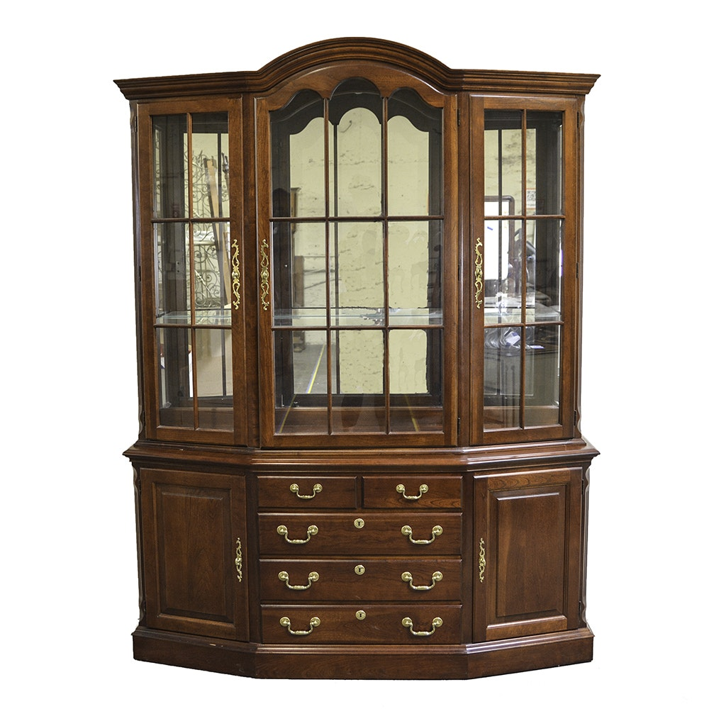 Traditional Bow Front China Cabinet by Pennsylvania House