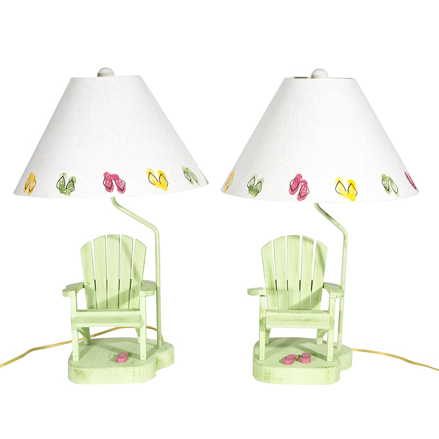 Pair of Beach Themed Table Lamps