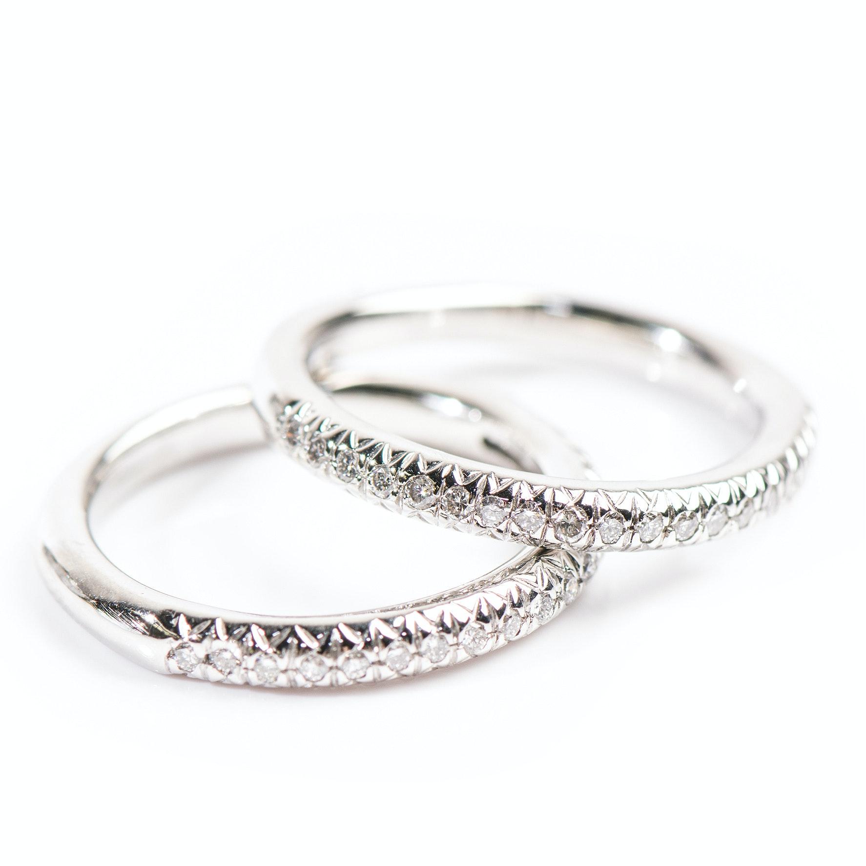 Platinum Matching Diamond Bands