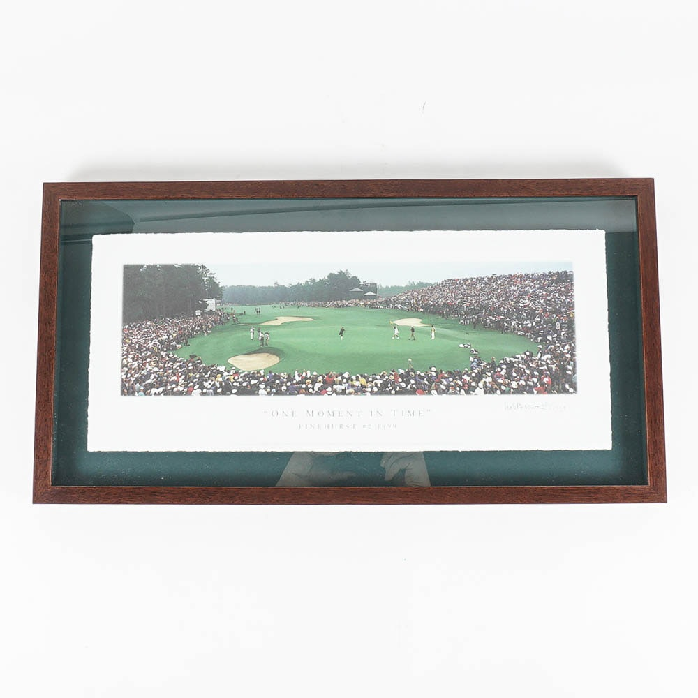"Brown Limited Edition Offset Lithograph of 1999 U.S. Open ""One Moment in Time"""