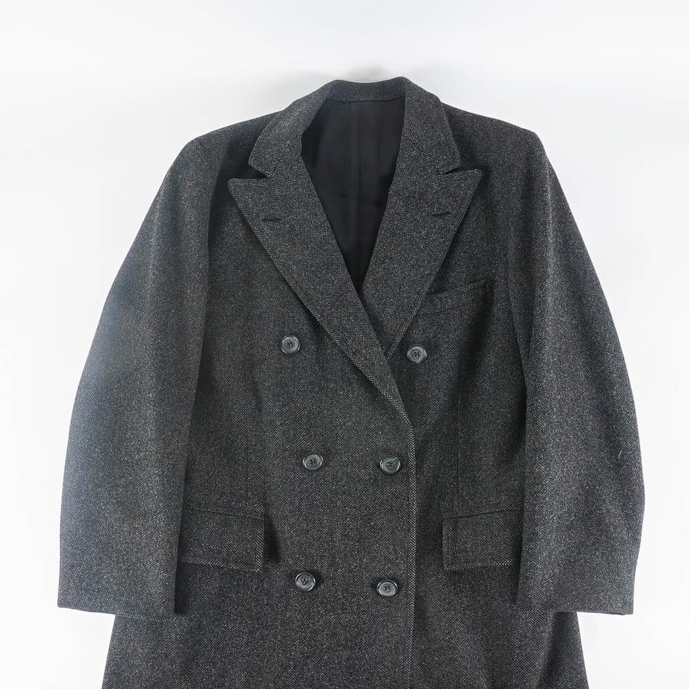 Men's Double-Breasted Wool Overcoat