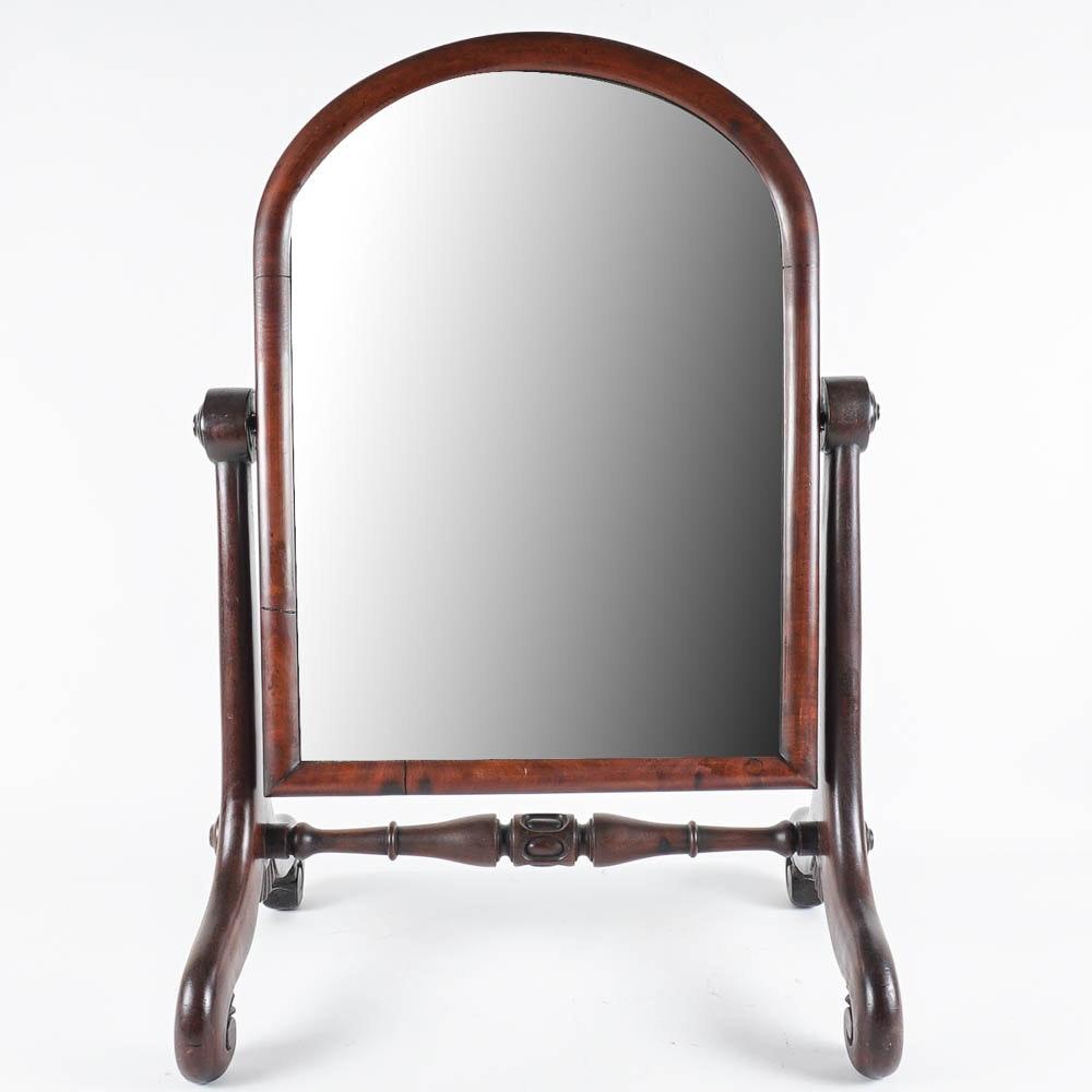 Vintage Mahogany Veneer Shaving Mirror