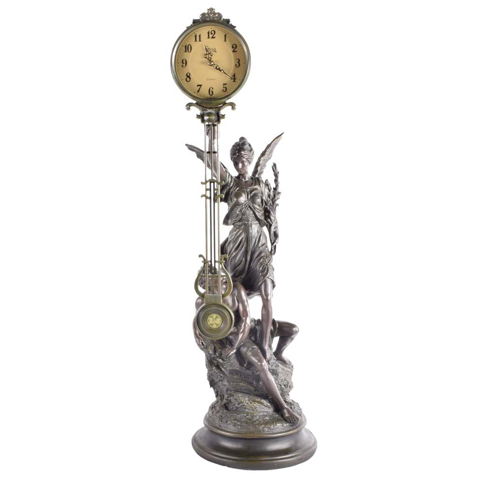 Reproduction Crosa Victorian Style Swinging Pendulum Clock