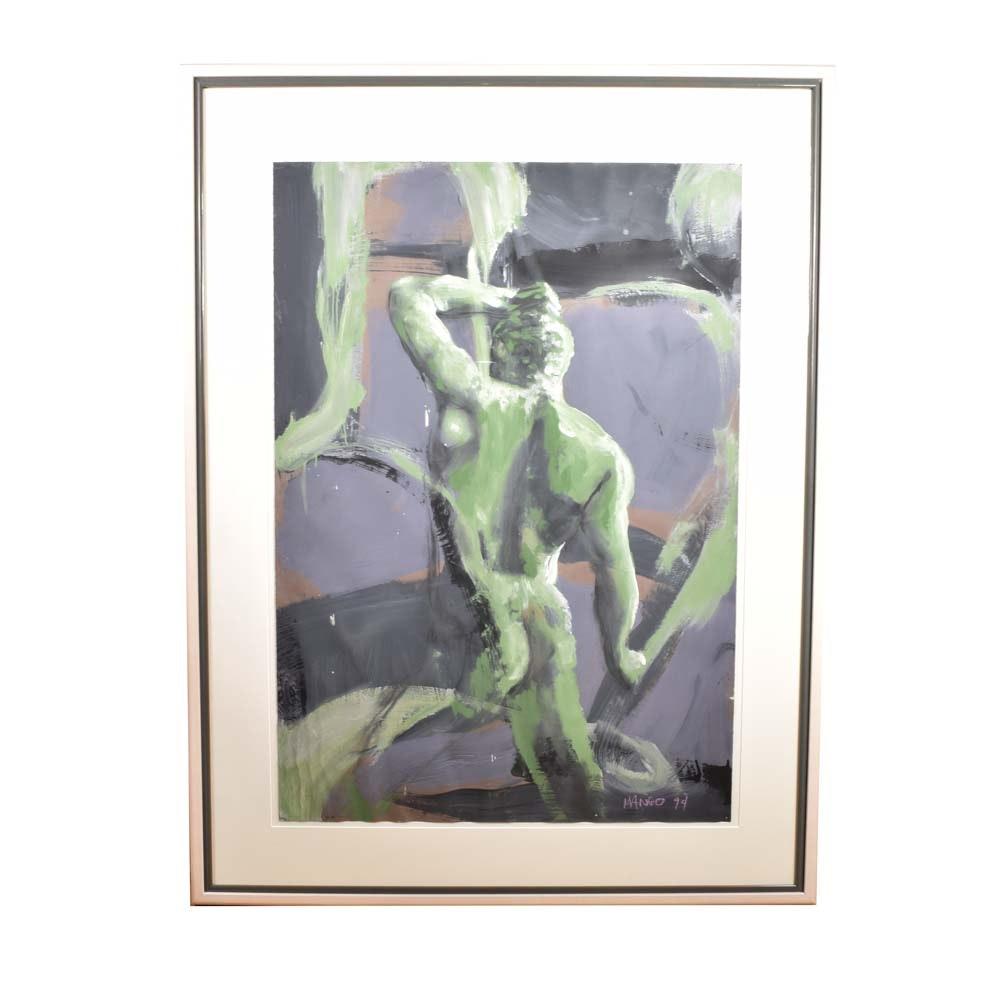 Robert Mango Original Oil Painting on Paper