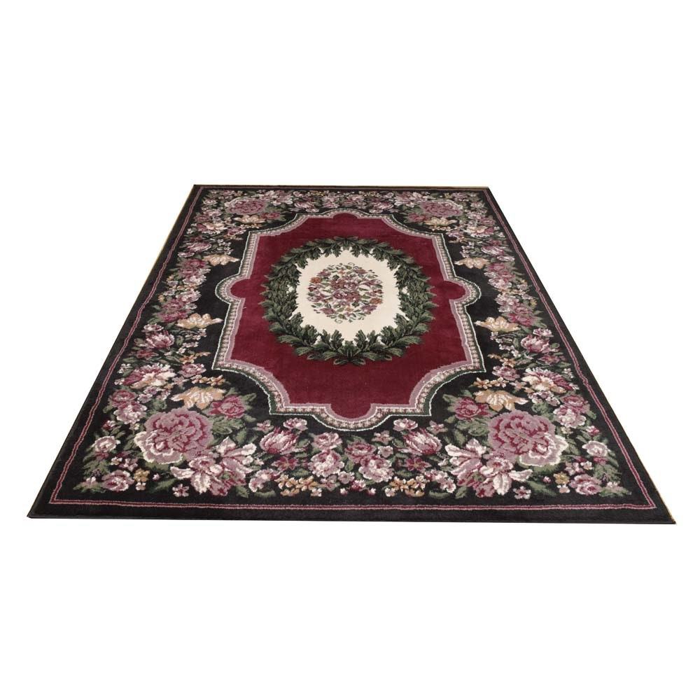 Machine Made Floral Area Rug