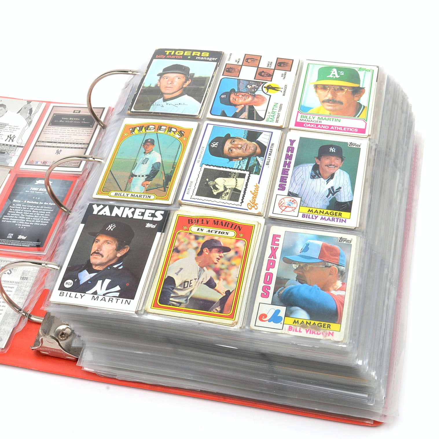 Large Binder Filled With 1970s-2000s Baseball Cards