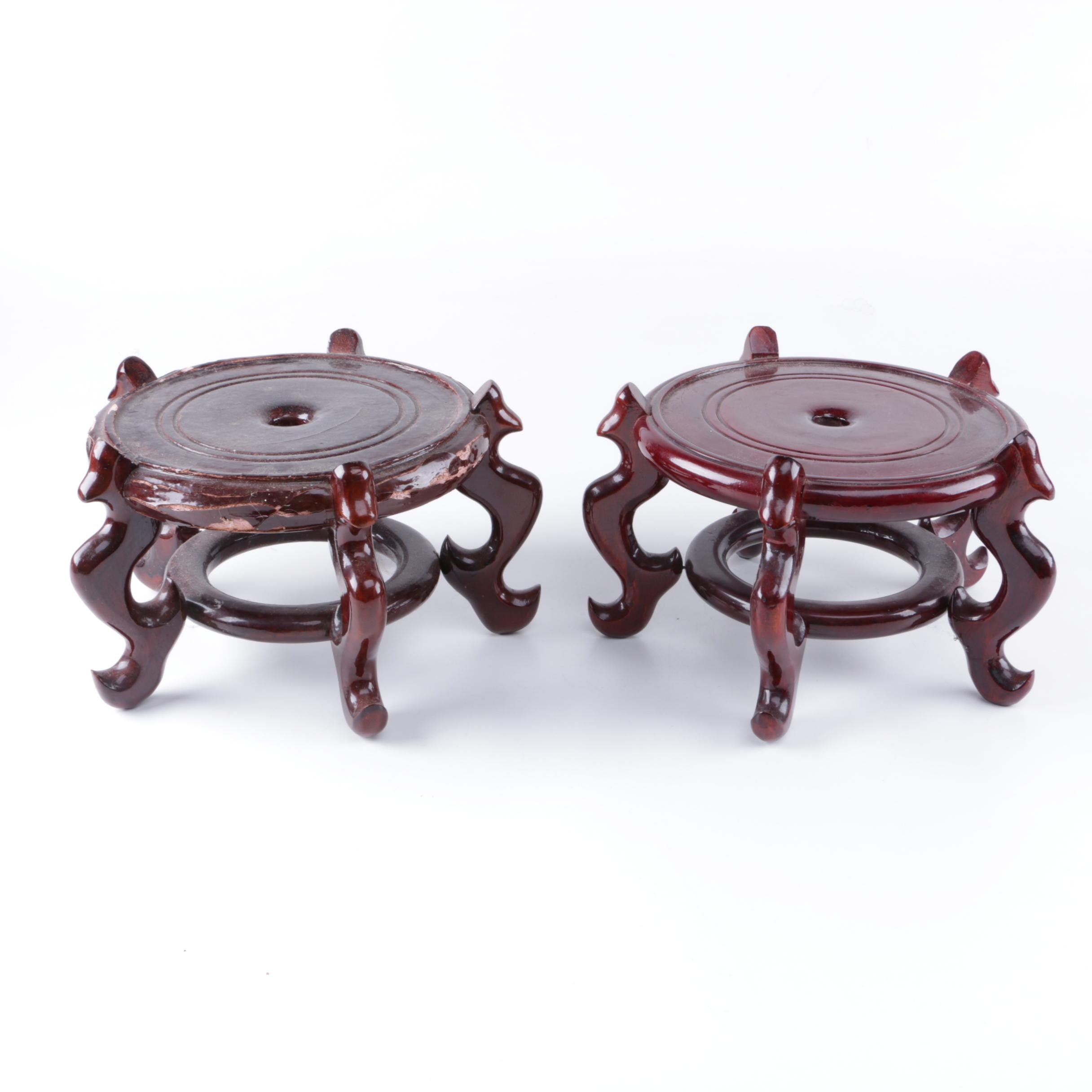 Pair of Asian Inspired Plant Stands