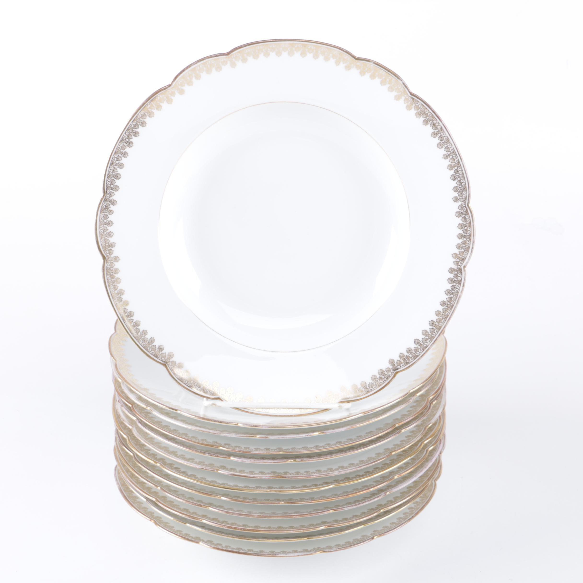 Tressemanes \u0026 Vogt Limoges Porcelain Luncheon Plate Set ...  sc 1 st  EBTH.com & Tressemanes \u0026 Vogt Limoges Porcelain Luncheon Plate Set : EBTH