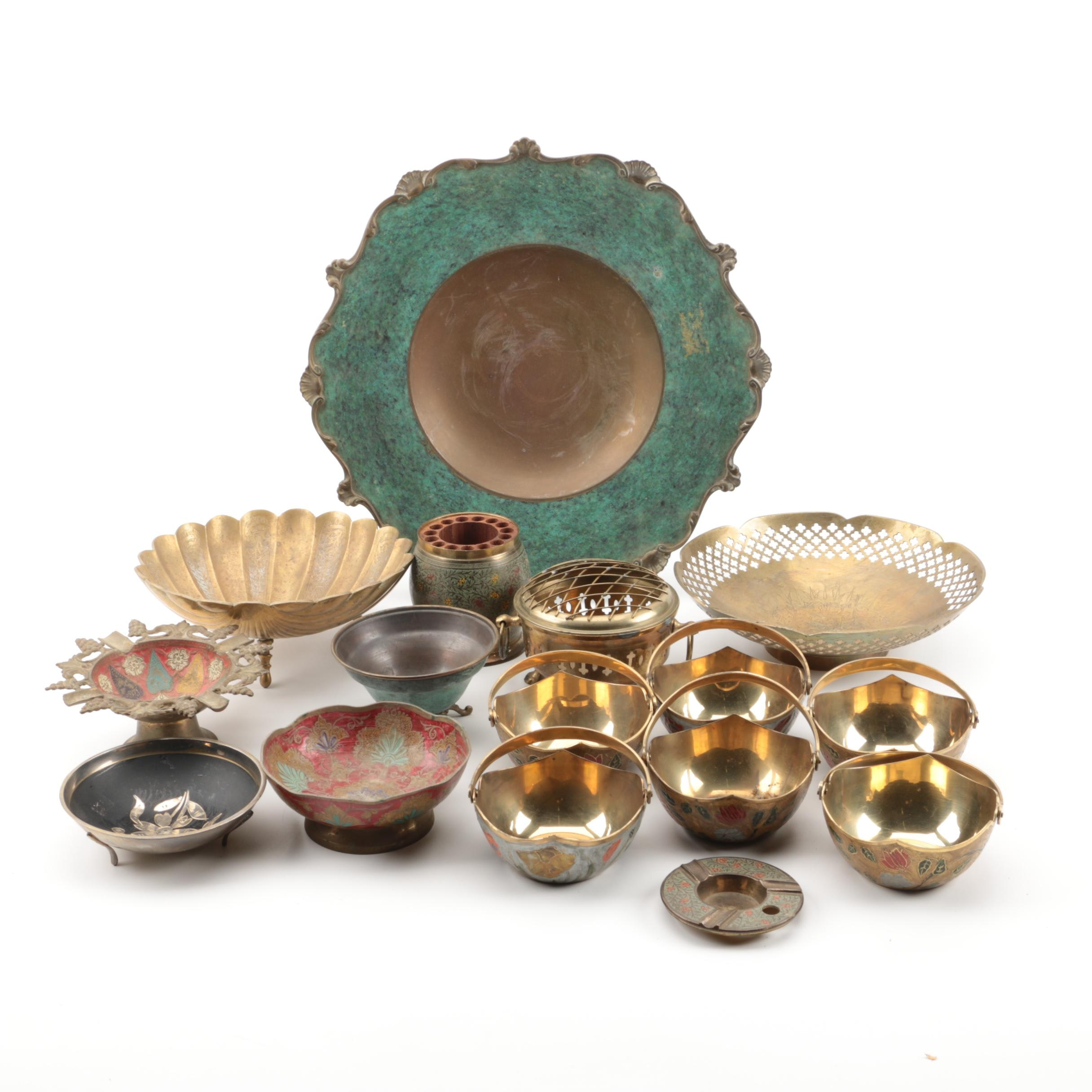 Collection of Decorative Metal Ware