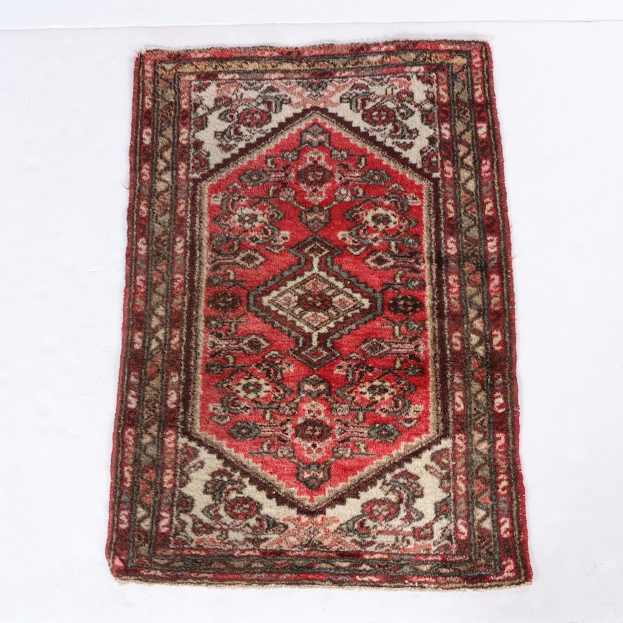 Hand Knotted Persian Wool Area Rug Ebth: Hand-Knotted Persian Accent Rug