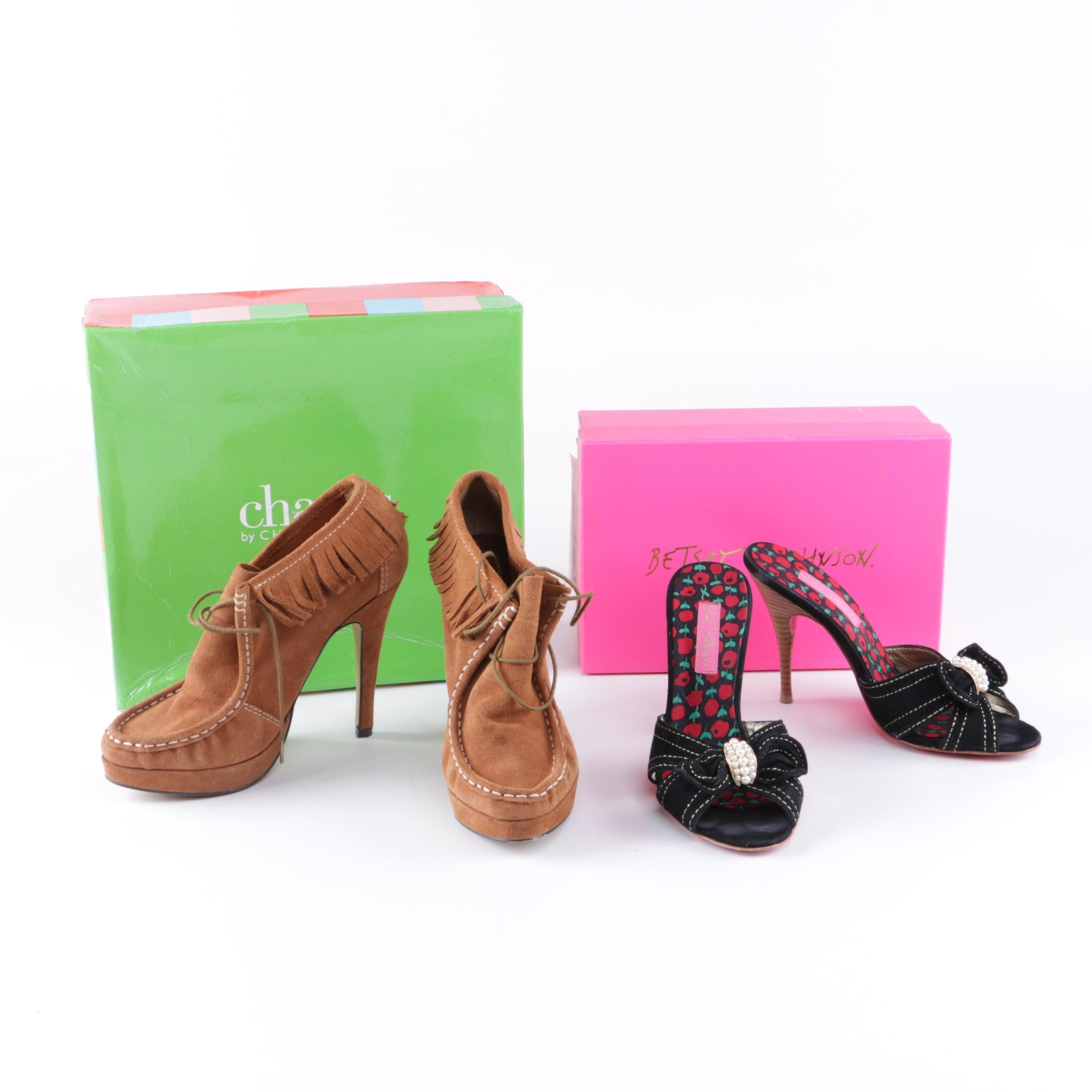 Peep Toes and Heeled Moccasins Including Betsey Johnson