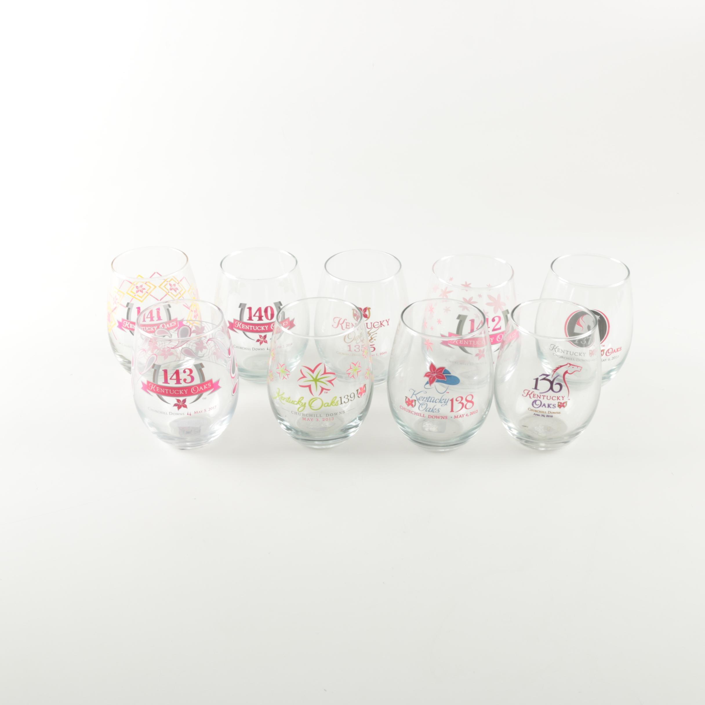 Commemorative Kentucky Oaks Tumbler Glasses