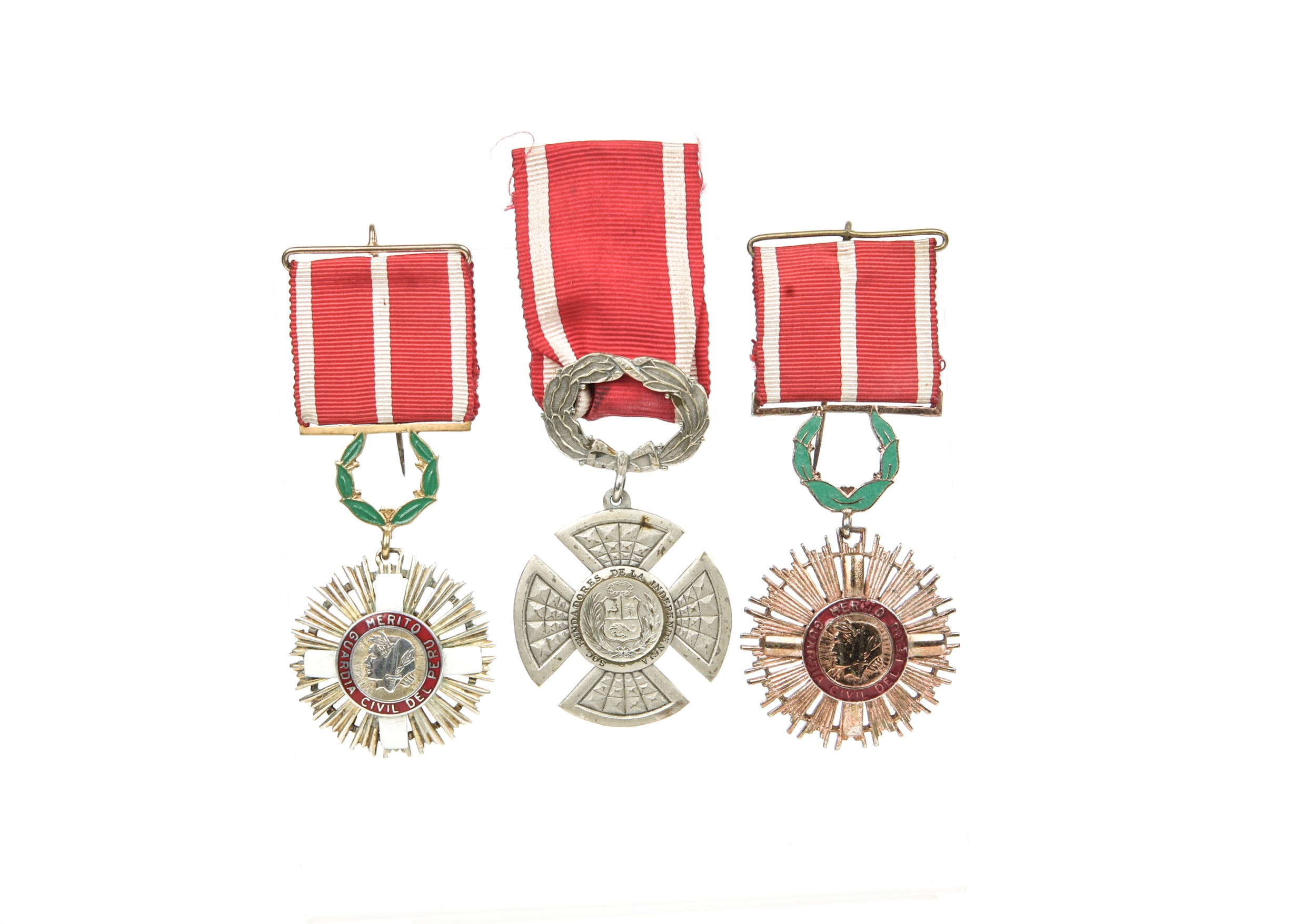 Three Peruvian Medals