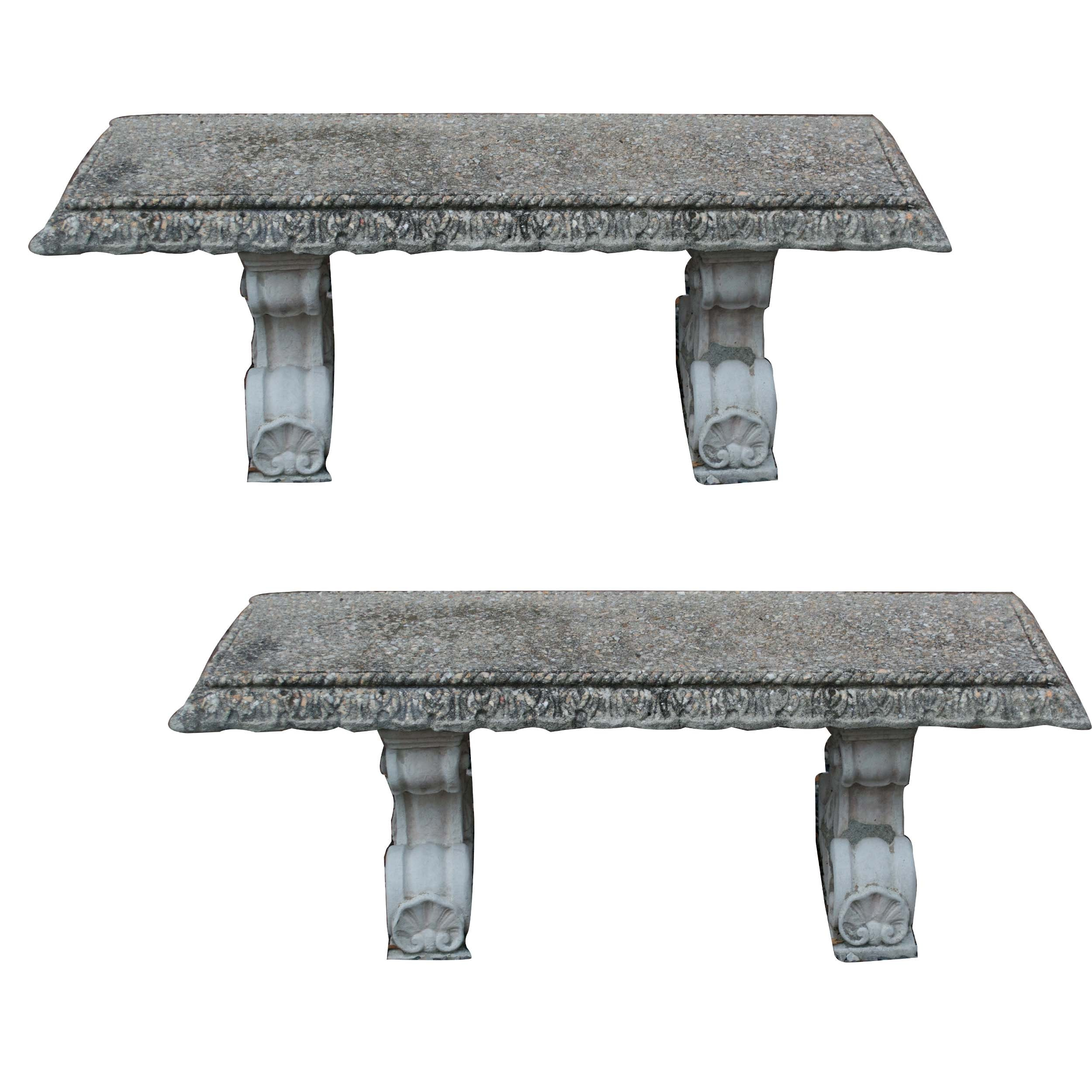 Cement Decor Benches