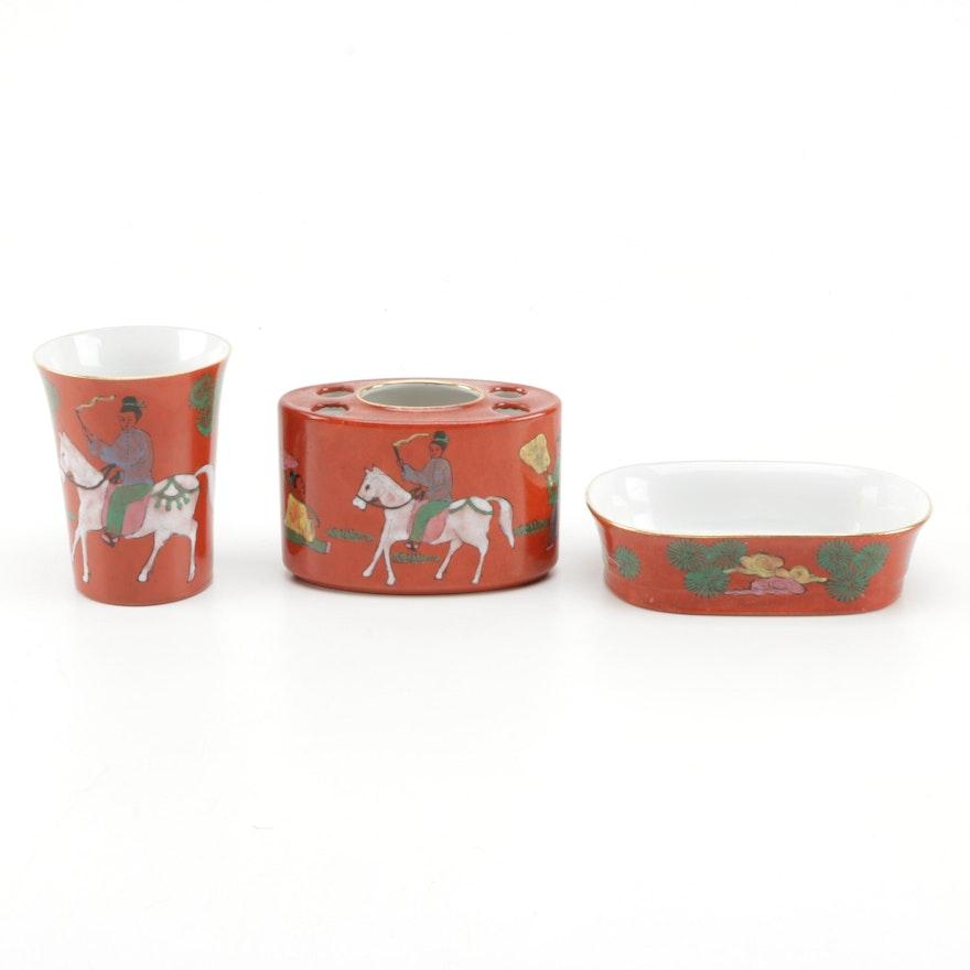 Overyjoy Japanese Porcelain Bathroom Accessories : EBTH