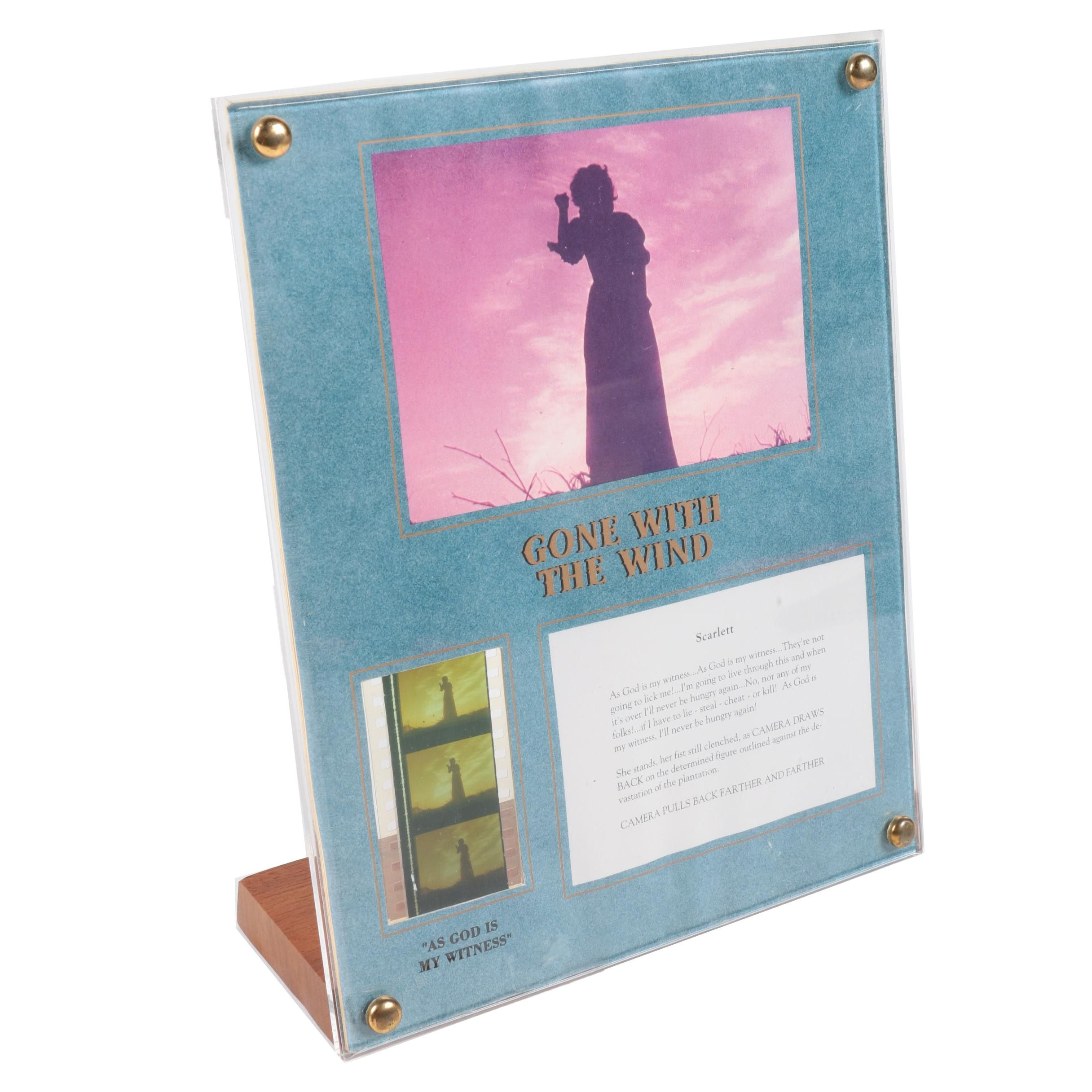 """Recollections by Lightpost Replica """"Gone with the Wind"""" Film Strip"""