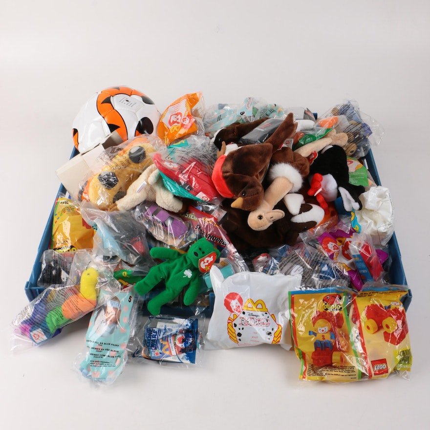 Toys Including Ty Beanie Babies and McDonald s Happy Meal Toys   EBTH 2f0ee6563d1c