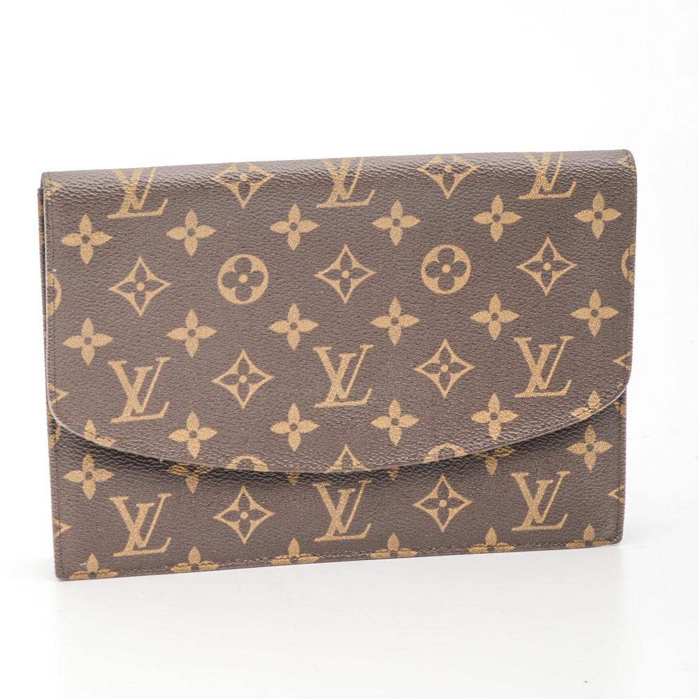 Louis Vuitton Signature Monogram Canvas Envelope Clutch Bag
