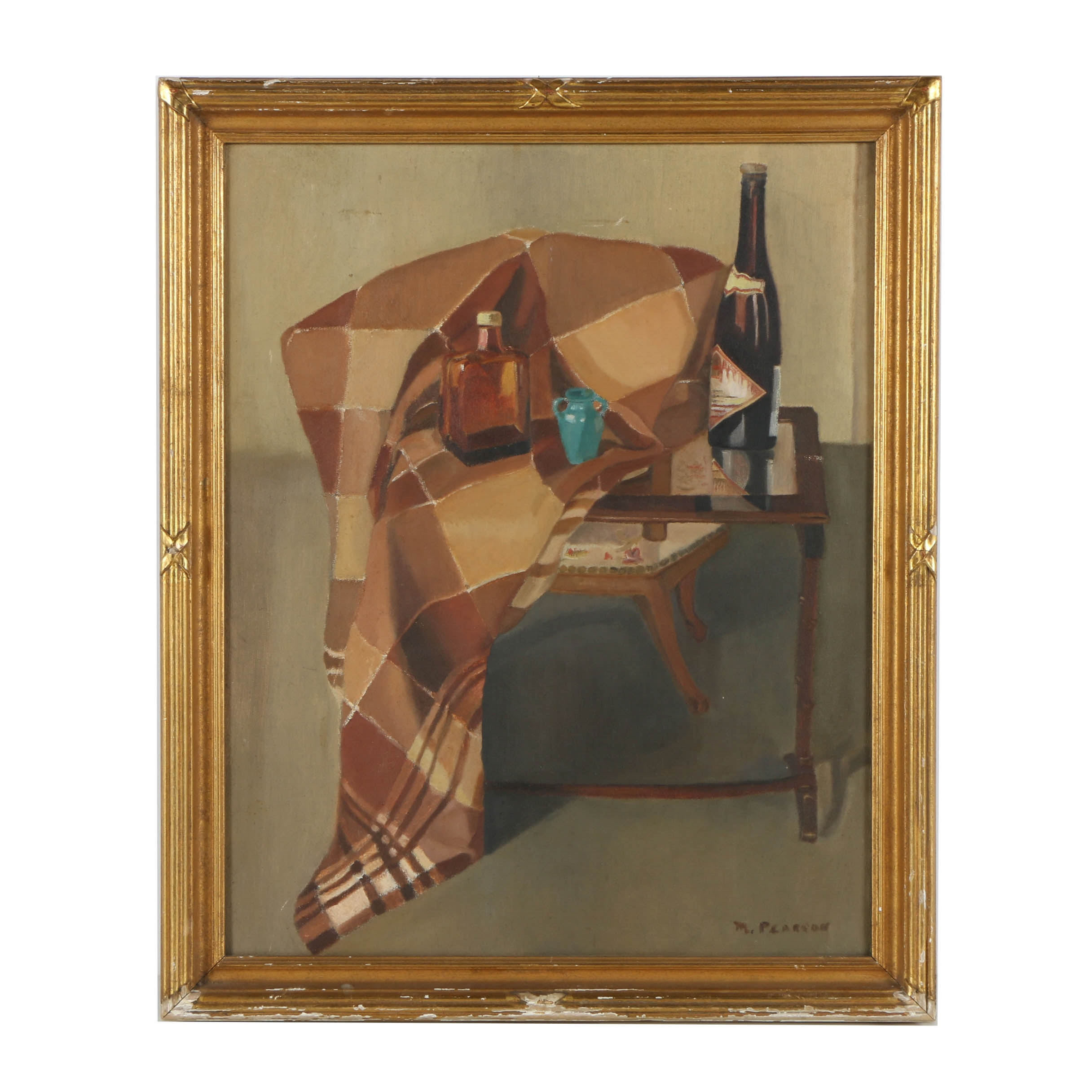 M. Pearson Oil Painting on Canvas of a Still-Life