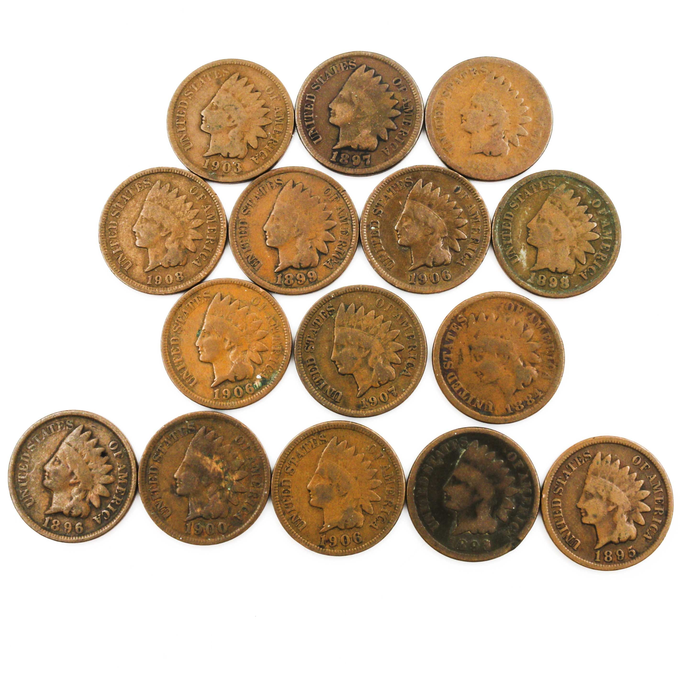 Fifteen Indian Head Cents