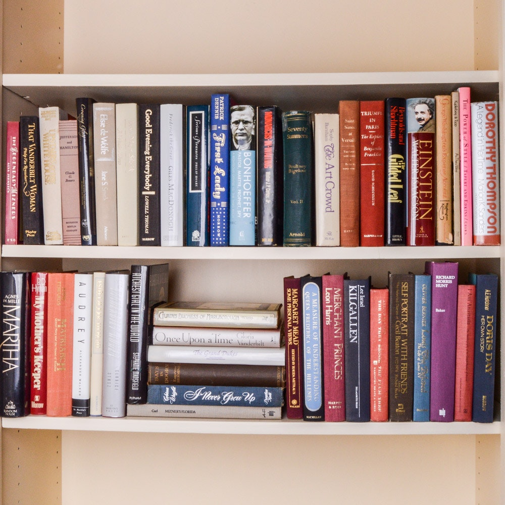 Biographies and Autobiographies Including 1st Editions