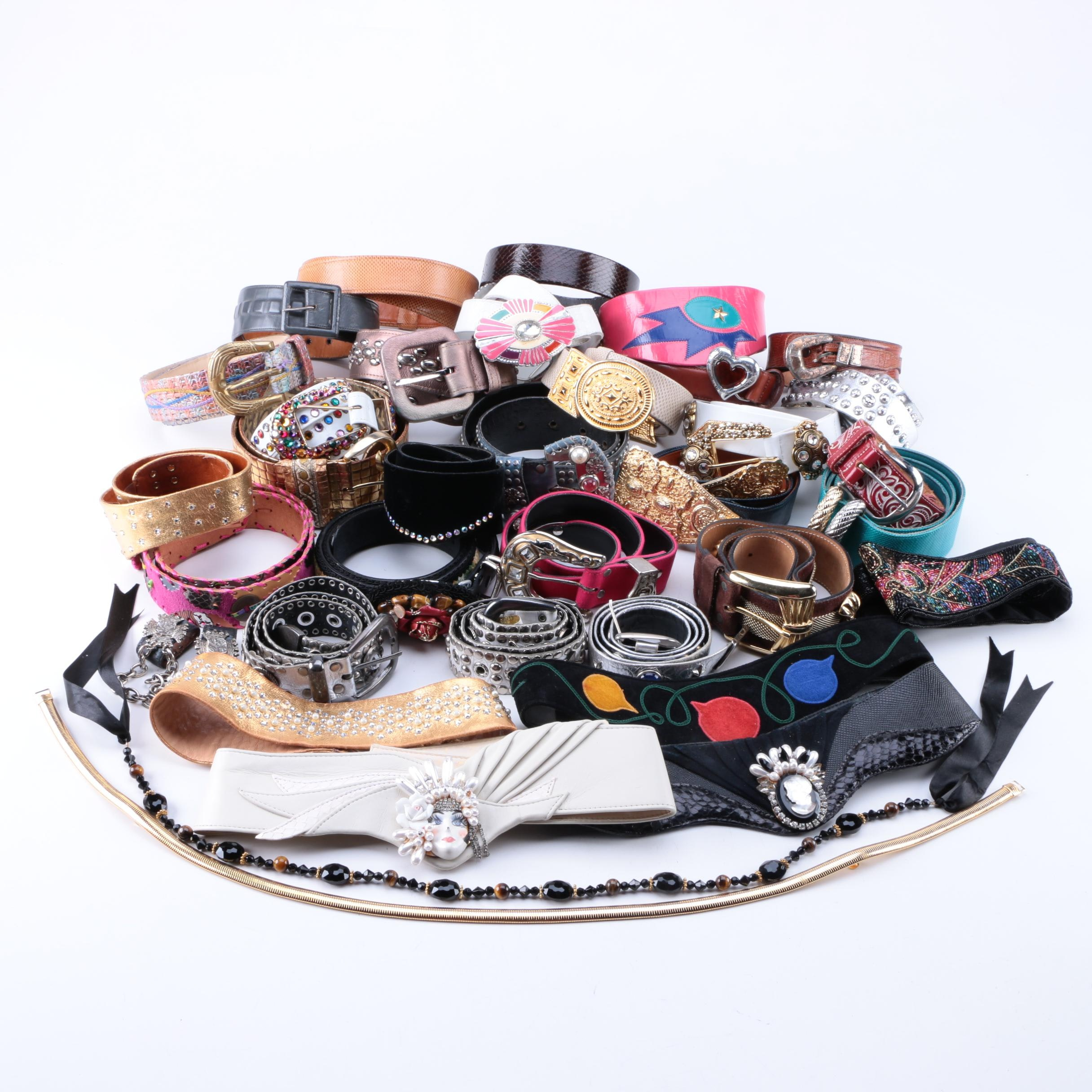 Women's Vintage Belts Including Alexis Kirk, Tony Lama and Krystyn Chambers