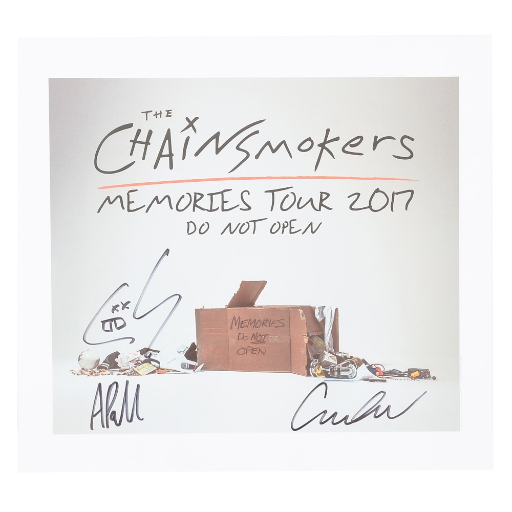 Chainsmokers Signed Poster