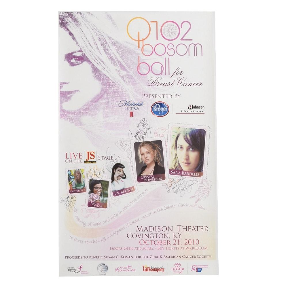 2010 Bosom Ball Signed Poster