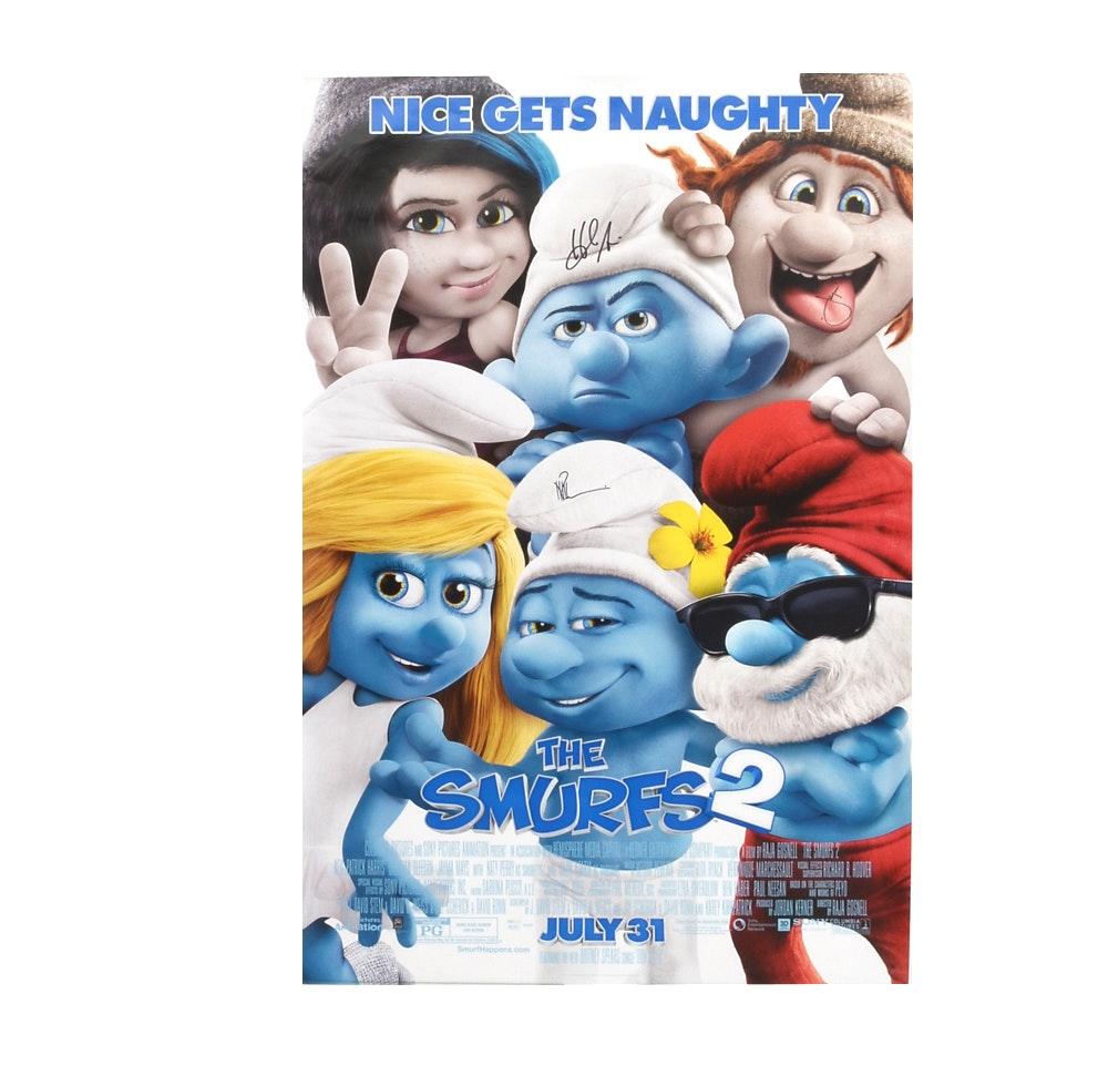 """The Smurfs 2"" Signed Movie Poster"