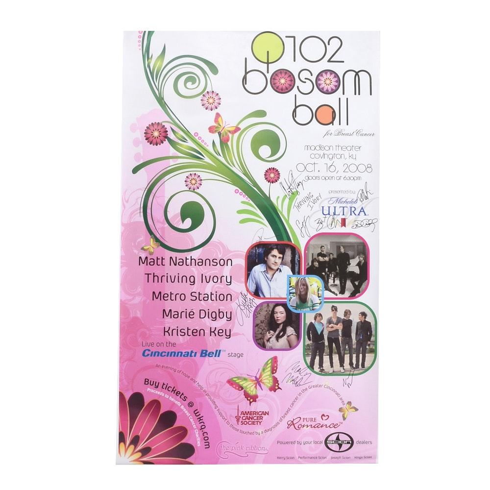 2008 Bosom Ball Signed Poster