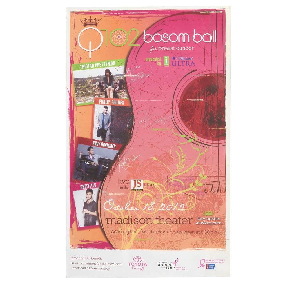 2012 Bosom Ball Signed Poster