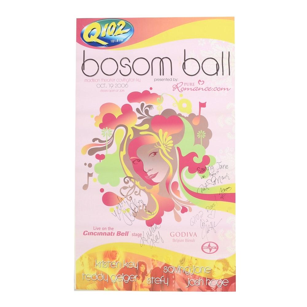 2006 Bosom Ball Signed Poster