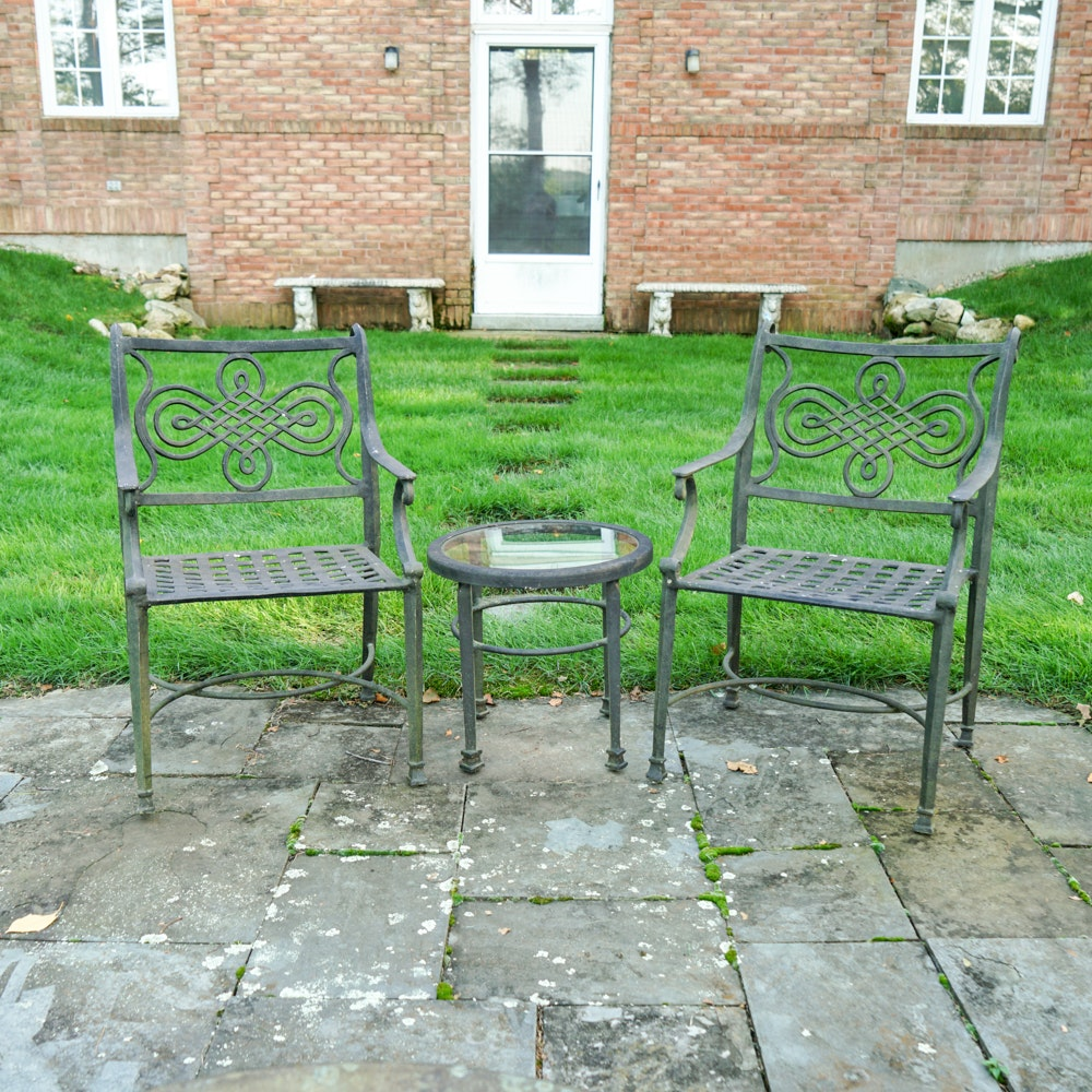 Patio Chairs and Table by Cast Classics