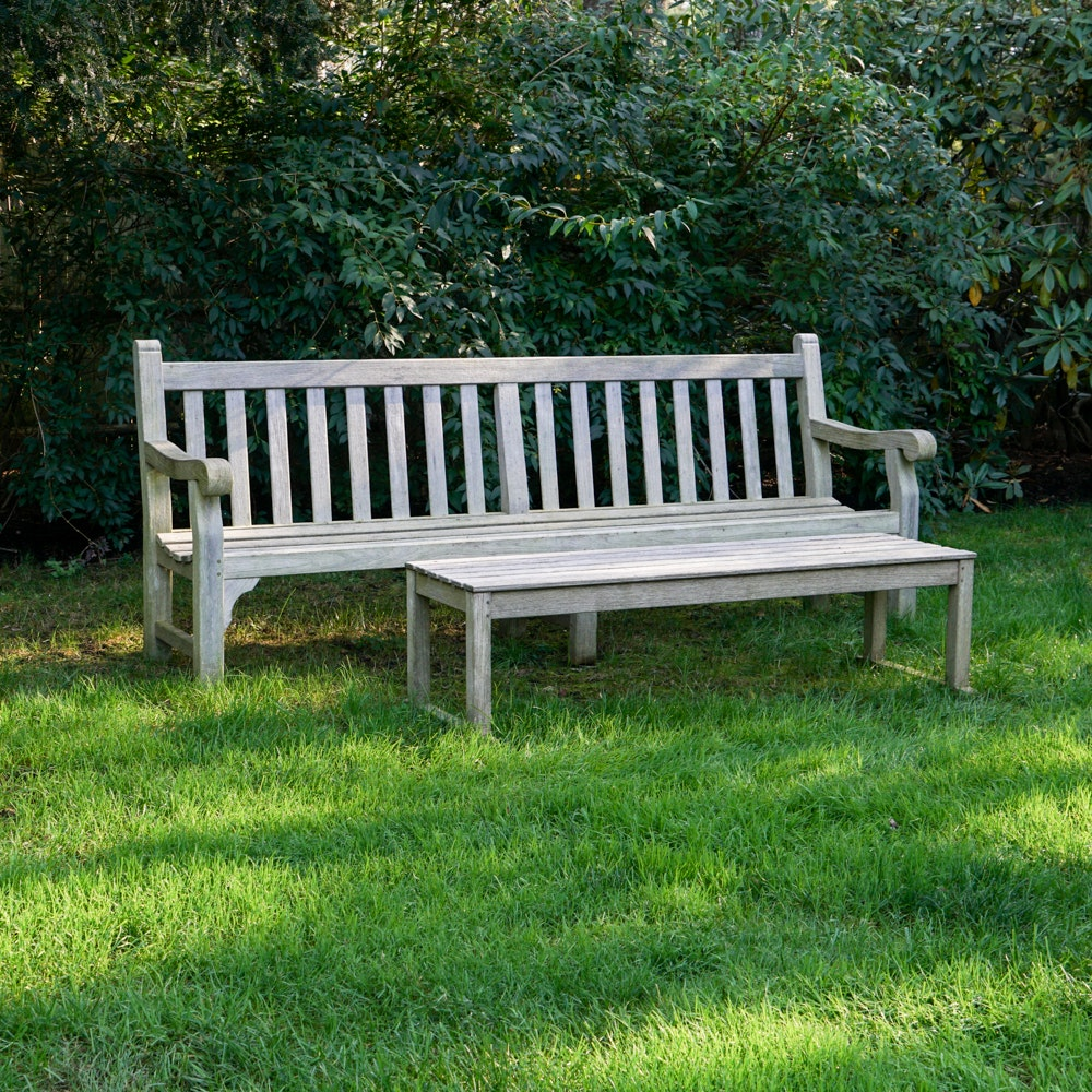 Teak Lawn Bench and Table