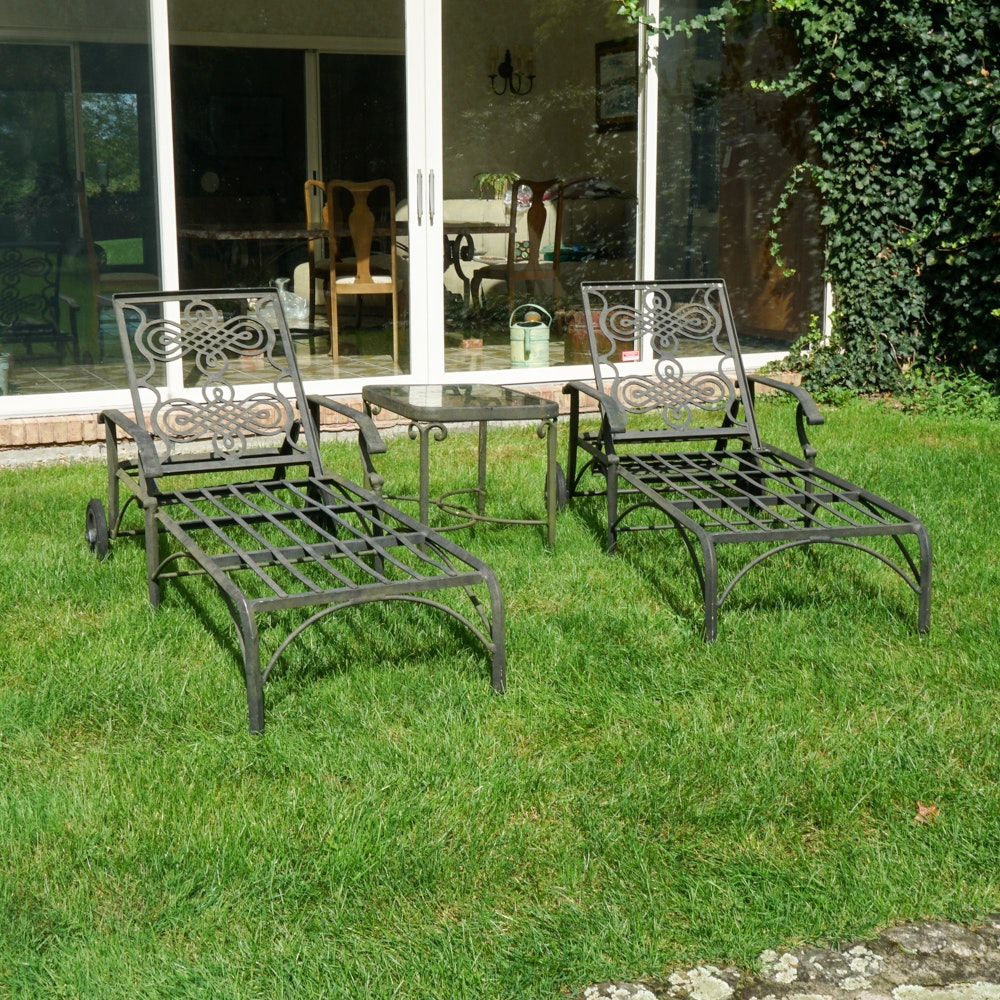 Cast Classics Patio Loungers with Table