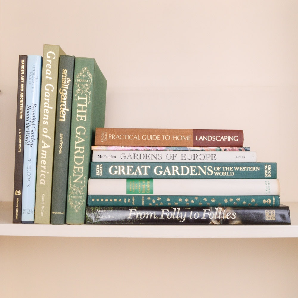 Hardcover Books on Gardening and Landscape Architecture
