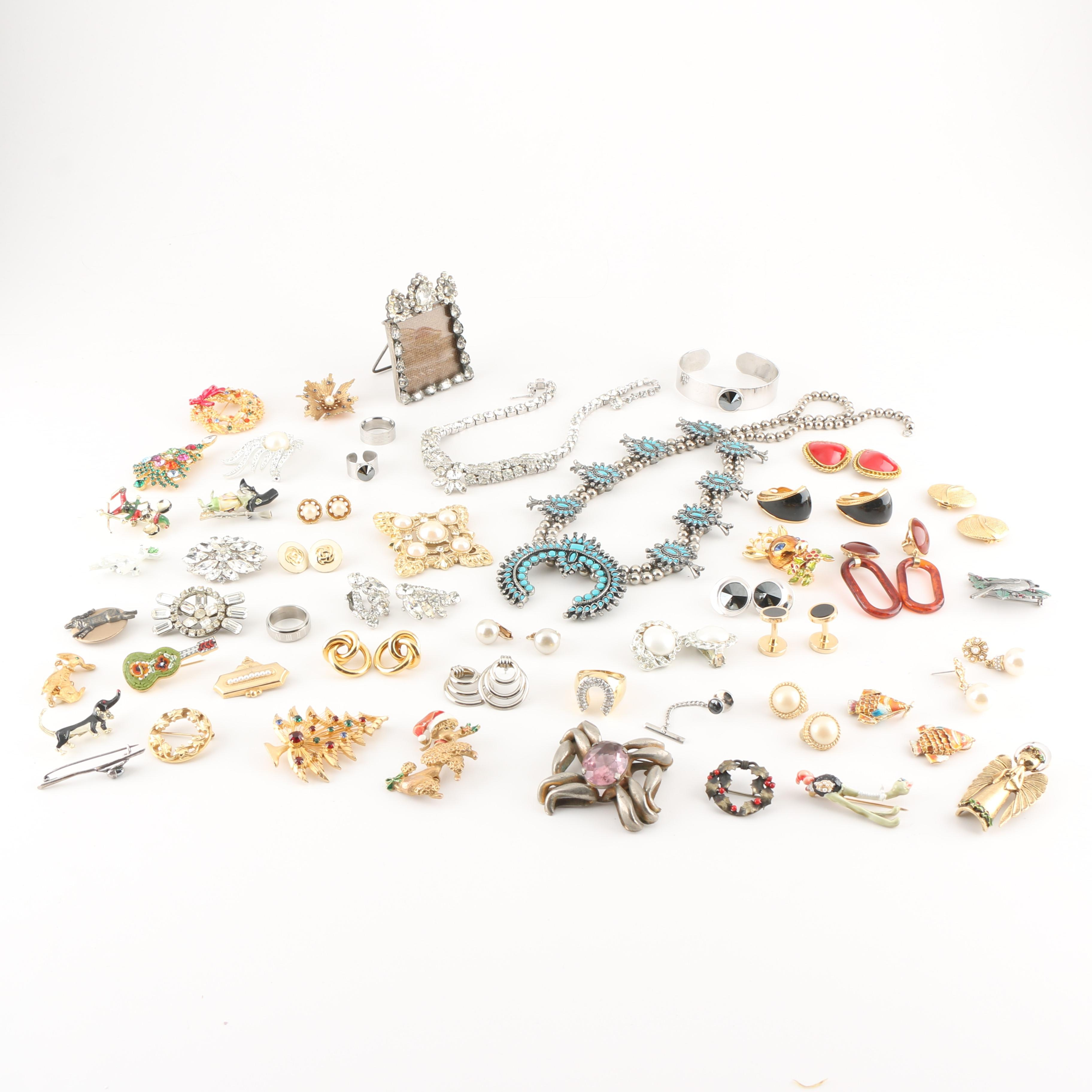 Generous Assortment of Costume Jewelry Including St. John and Weiss