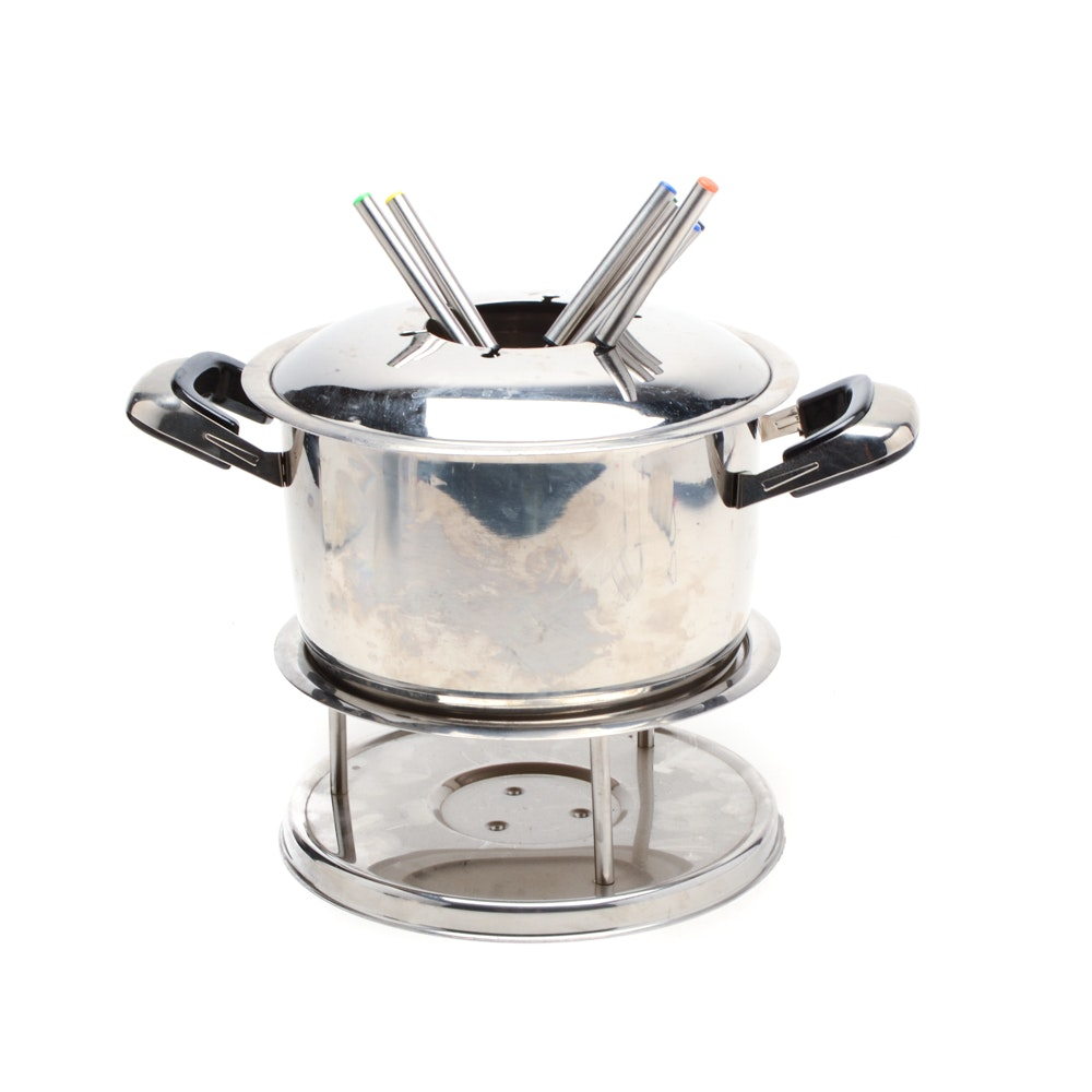 Crate and Barrel Fondue Set