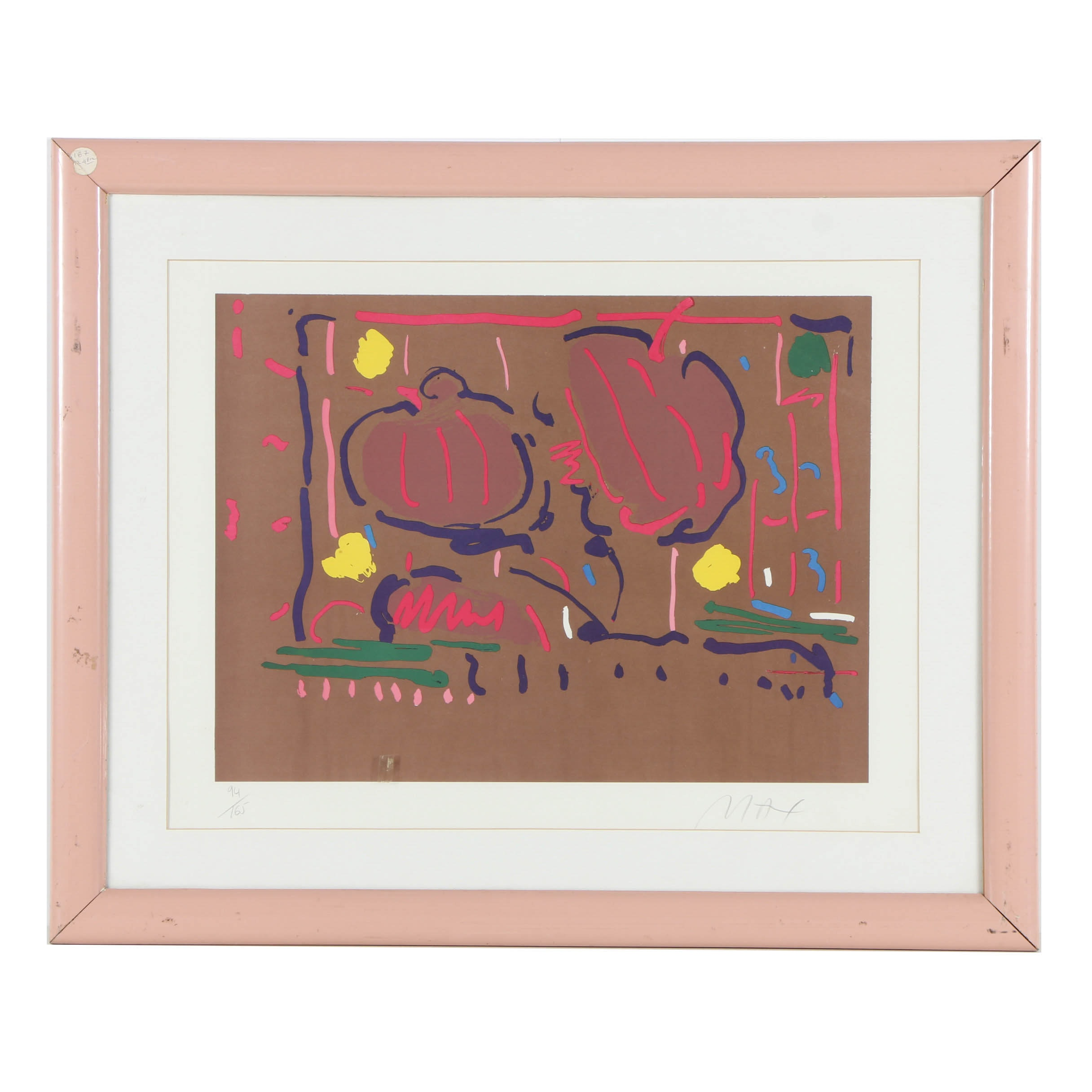 Limited Edition Signed Peter Max Serigraph on Paper