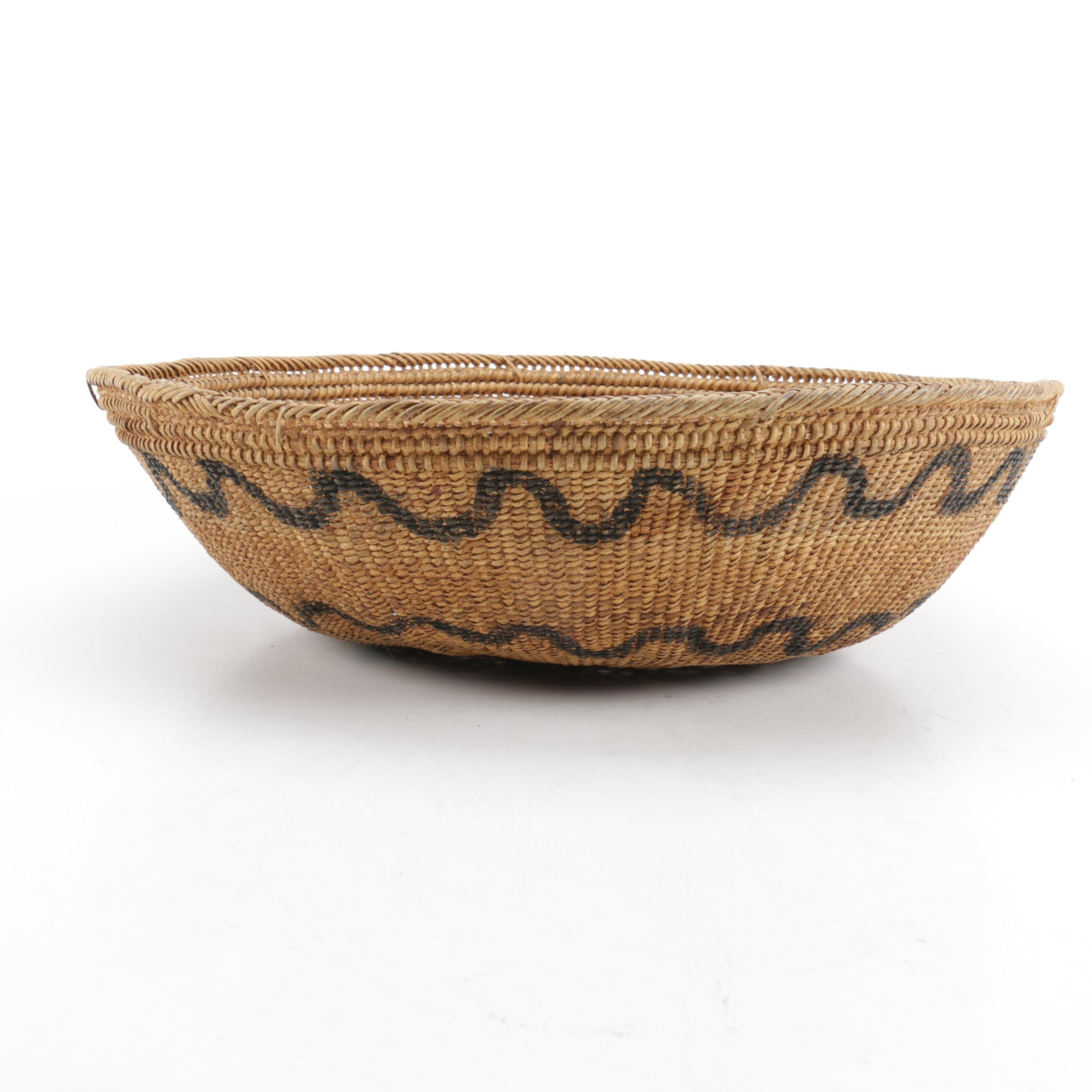 Coiled Basketry Bowl