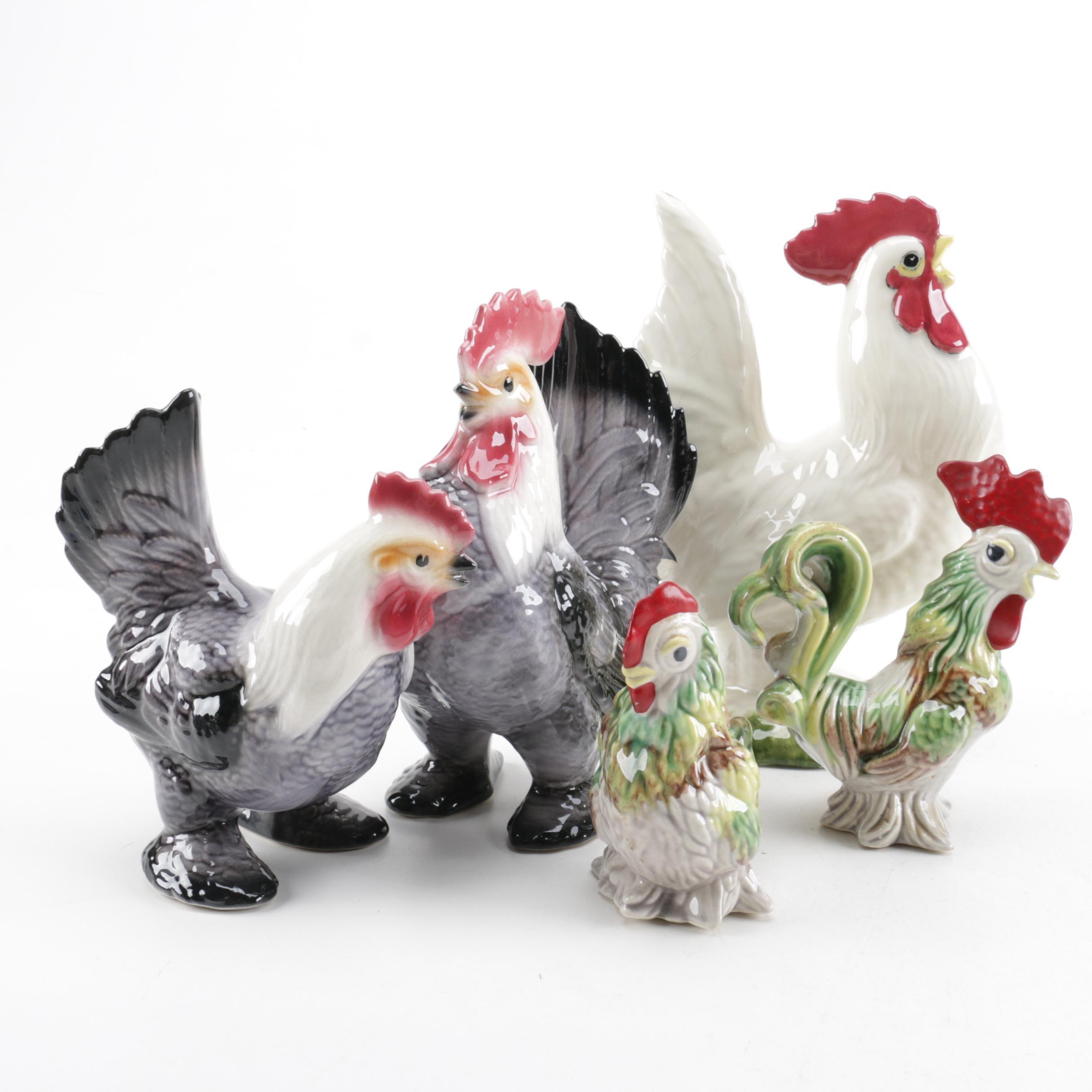 Assortment of Ceramic Chickens