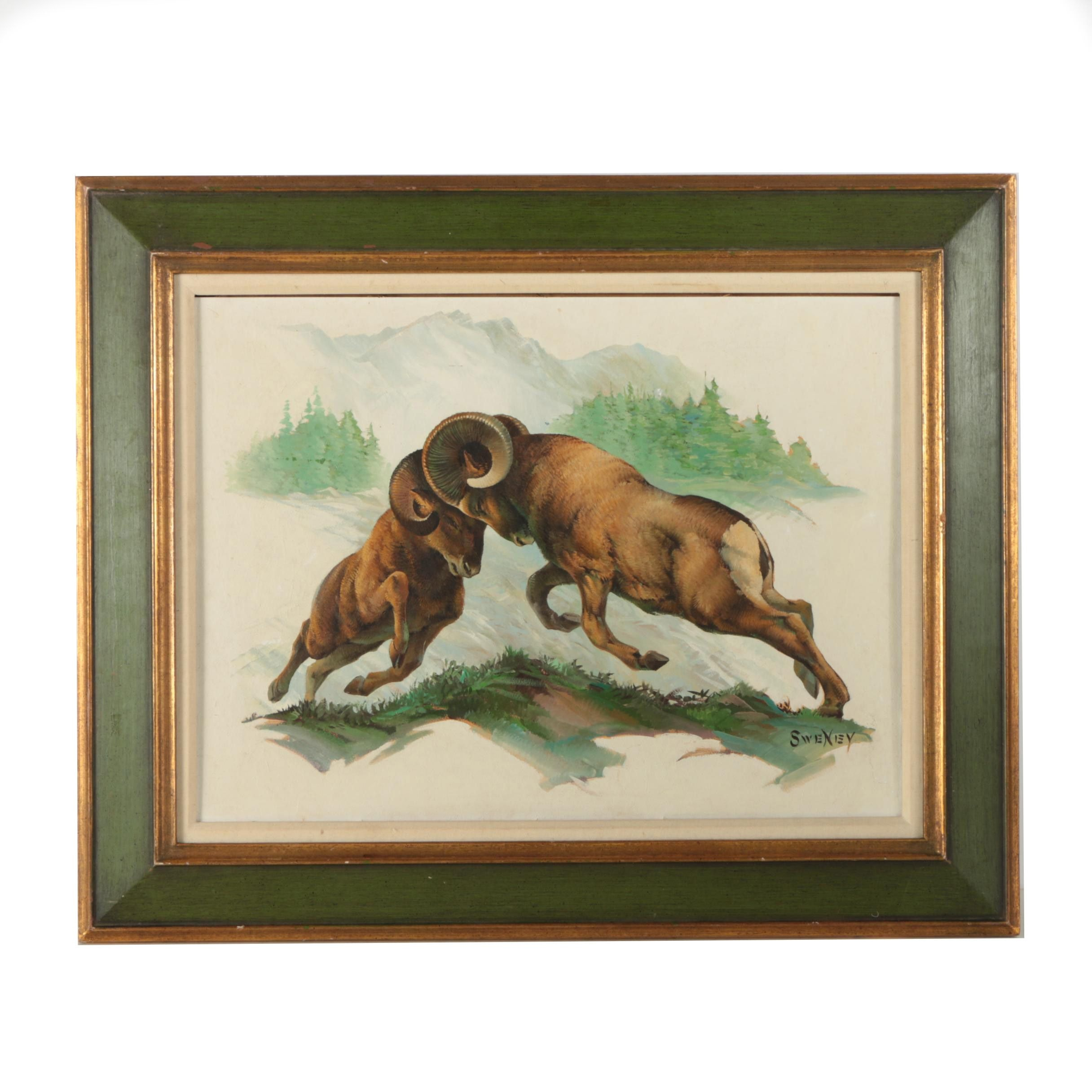"""Vacuum Print After Fred Sweney's """"Bighorn Sheep"""""""
