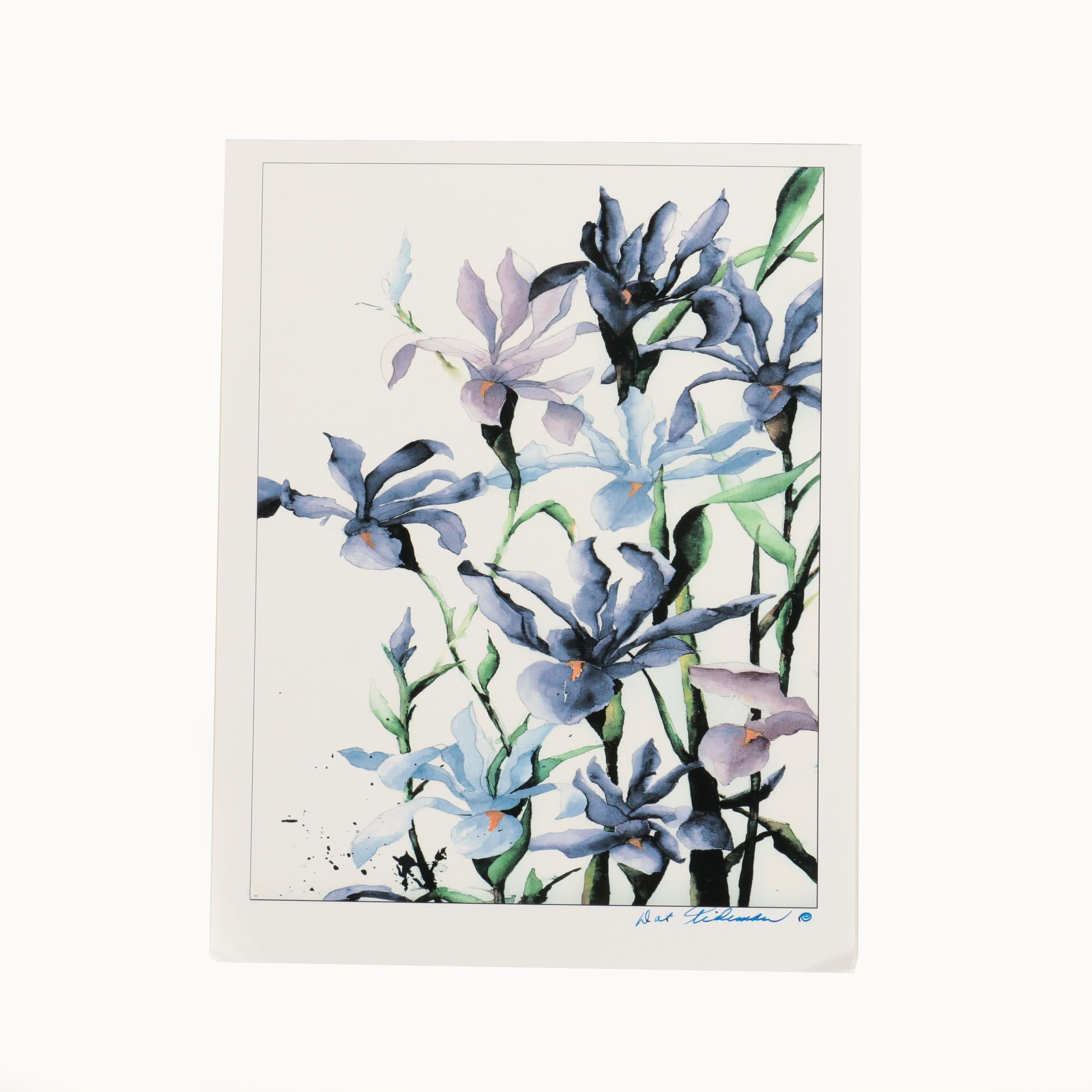 Dot Tideman Giclee Print of Watercolor Painting of Flowers